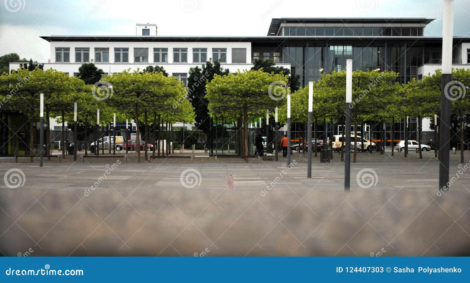 办公楼在绿地