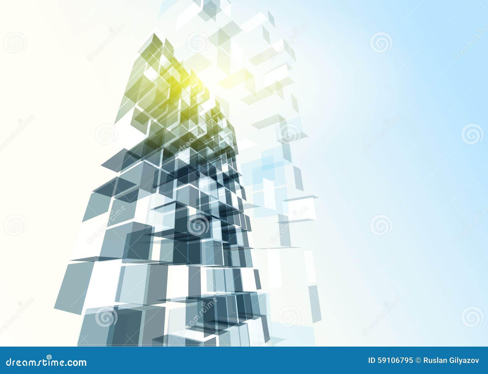 办公楼现代蓝色玻璃墙