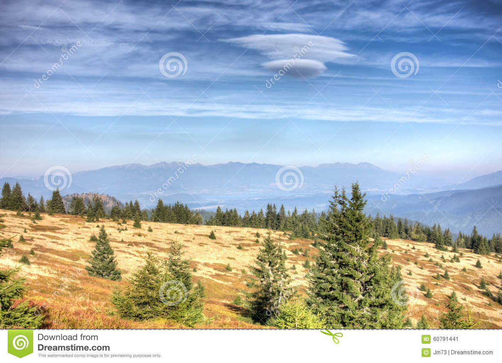 从更加伟大的Fatra到高Tatras山-斯洛伐克的看法