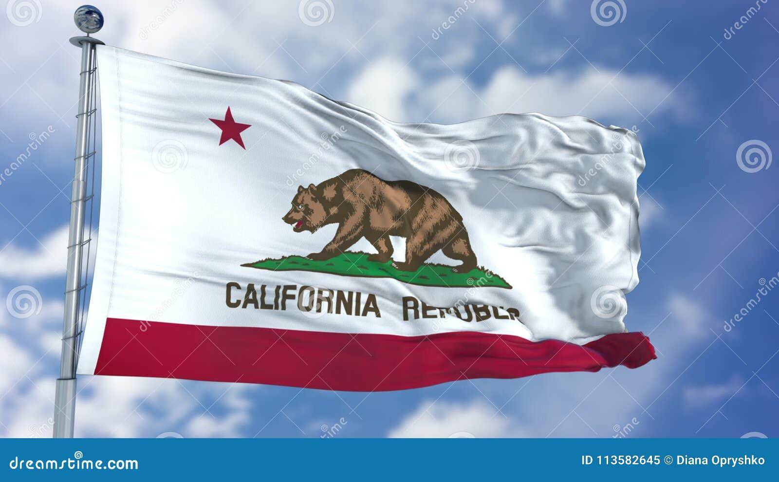 加利福尼亚挥动的旗子