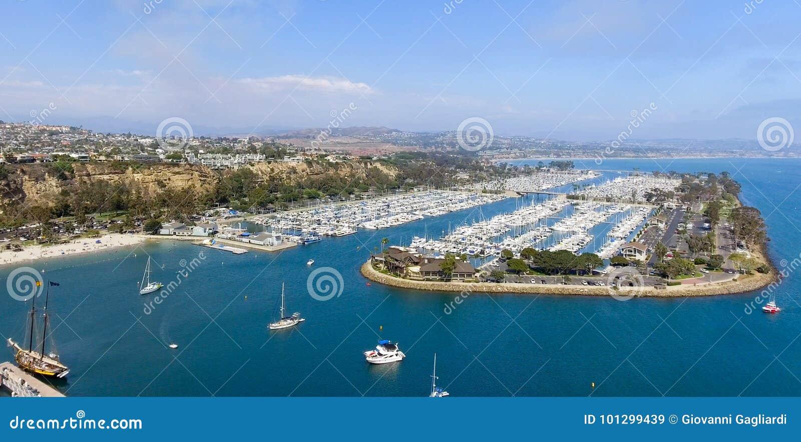 加利福尼亚Dana Point 全景鸟瞰图