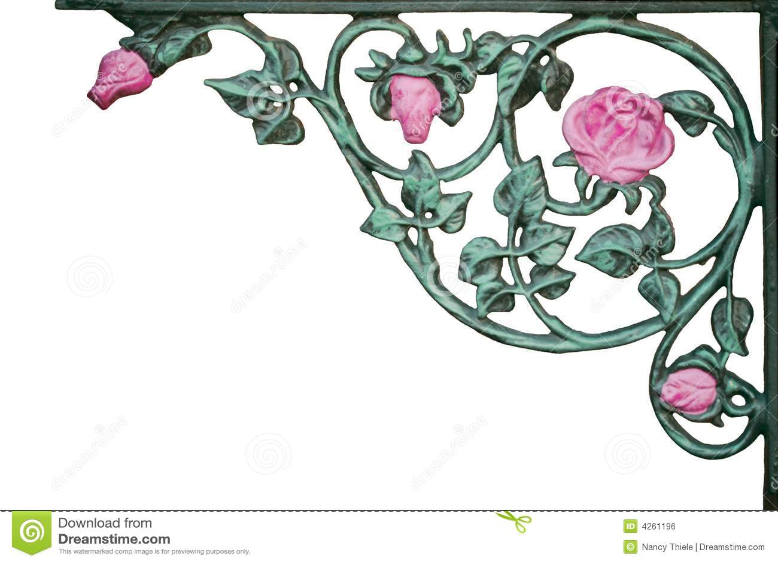 加工托架铁老粉红色玫瑰色的藤