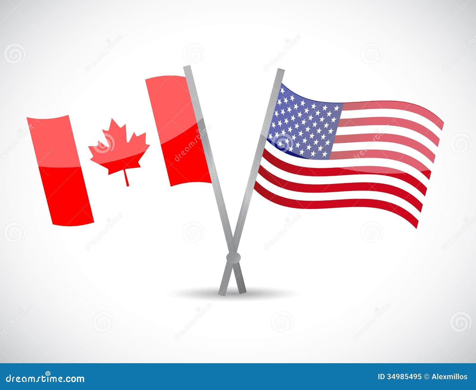 加拿大和我们合作概念例证