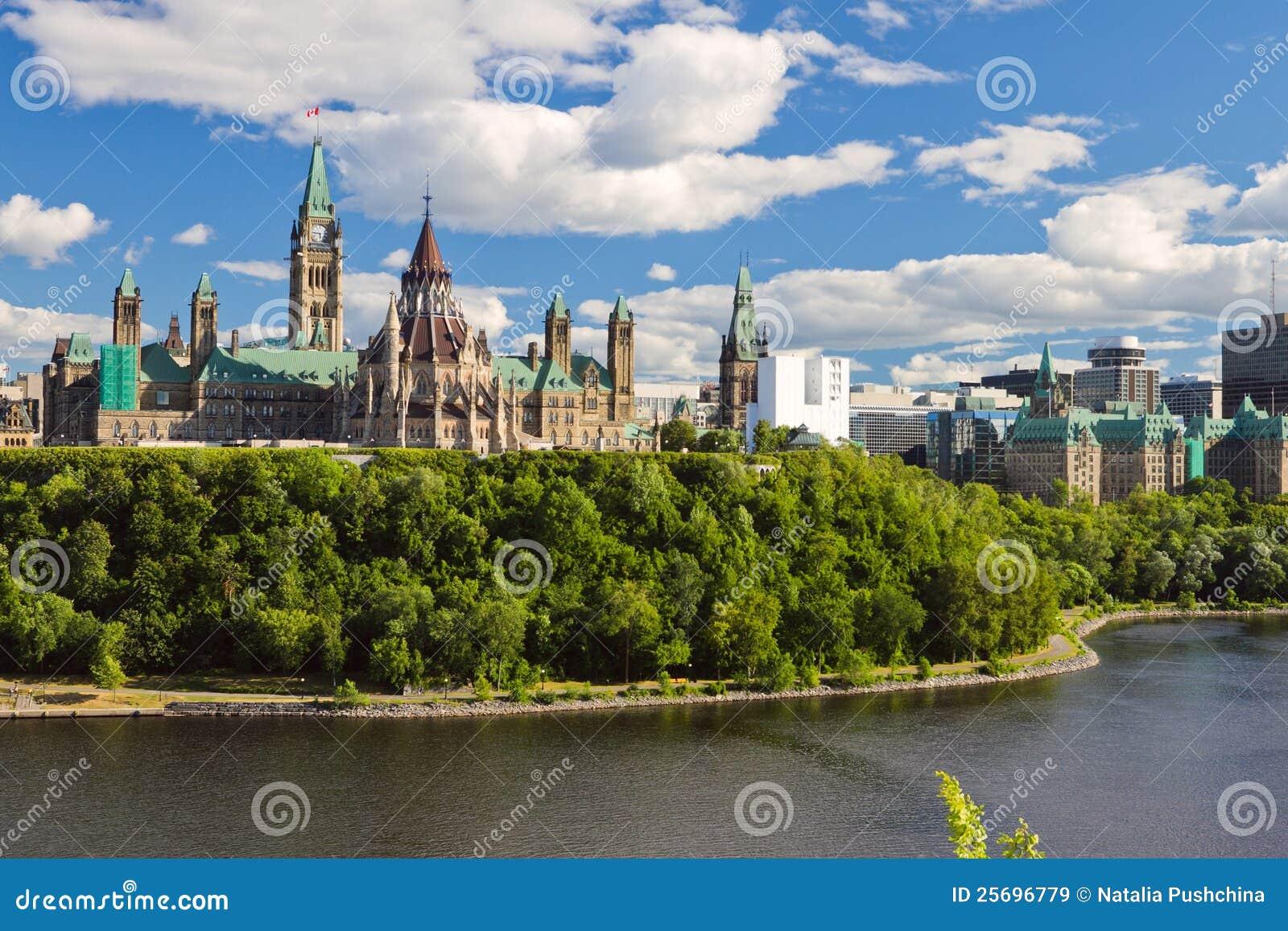 加拿大小山渥太华议会