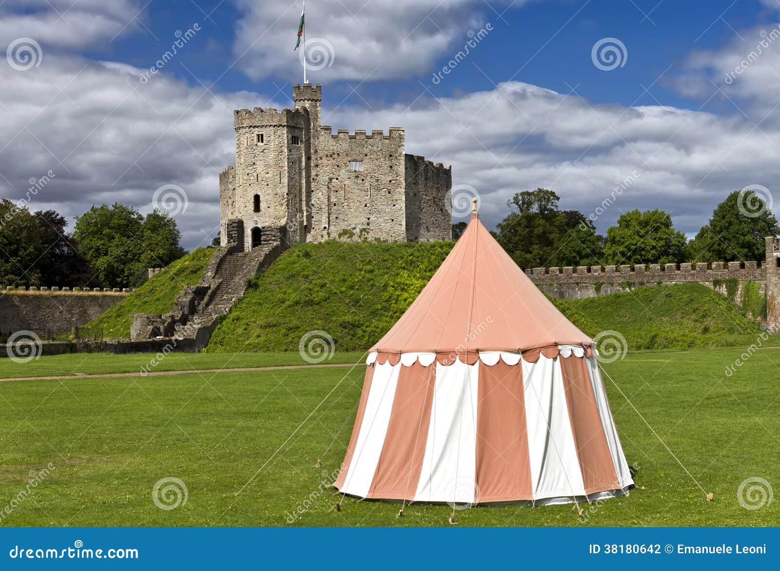 加的夫城堡,威尔士,英国