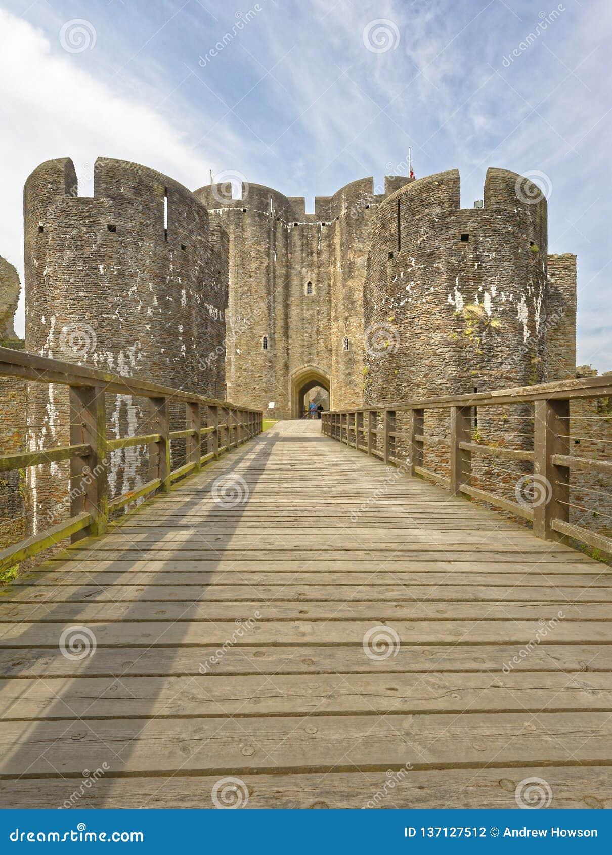 加的夫城堡 加的夫,威尔士,英国  透视图