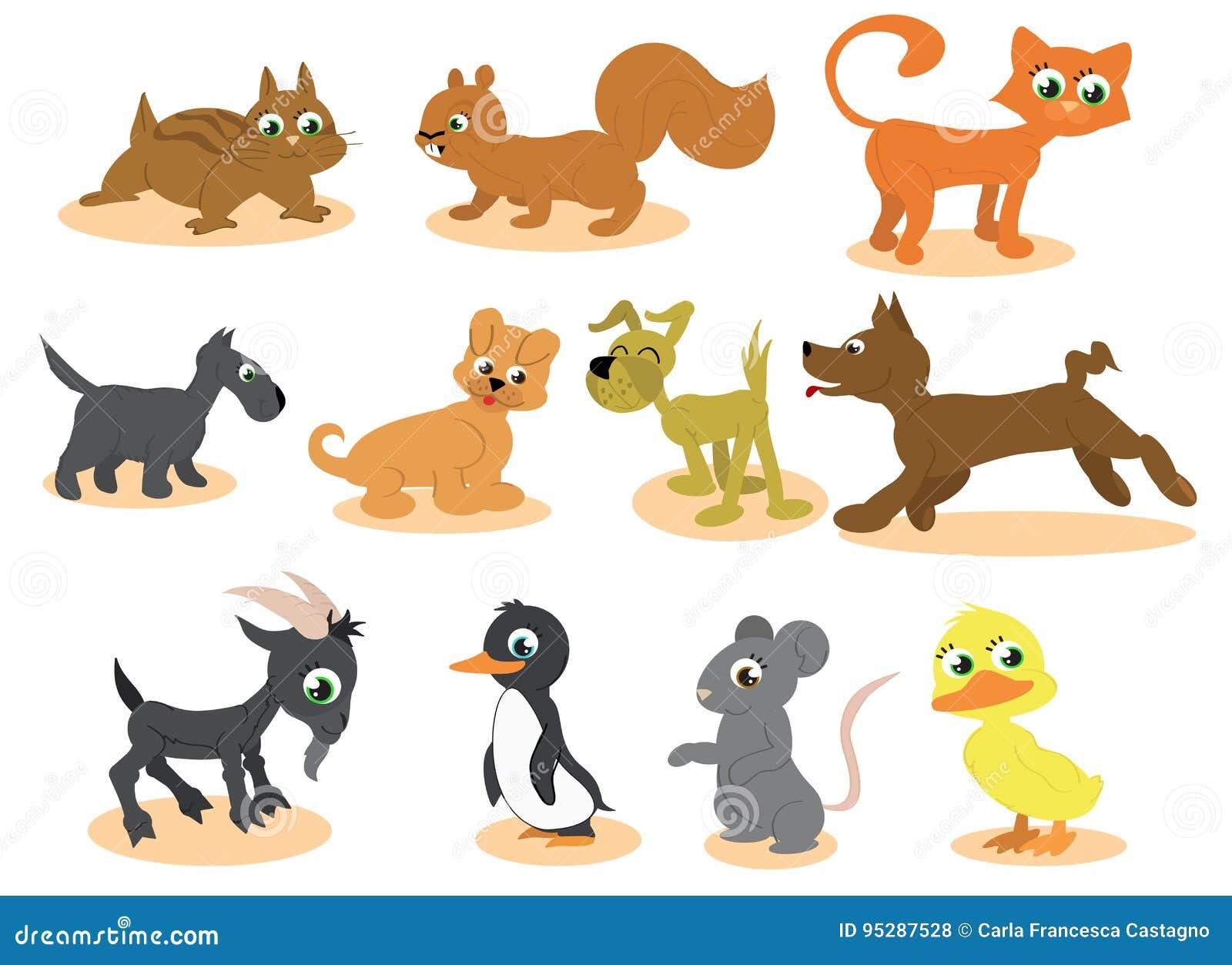 动物动画片逗人喜爱的向量