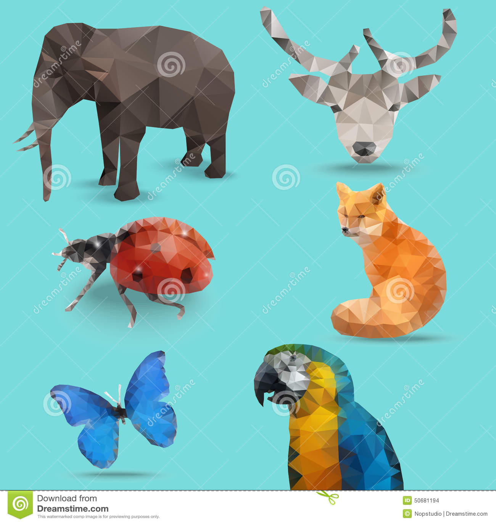 Download 动物多角形 向量例证. 插画 包括有 动物区系, 纸张, 鹦鹉, origami, 突出, 瓢虫, 唯一 - 50681194