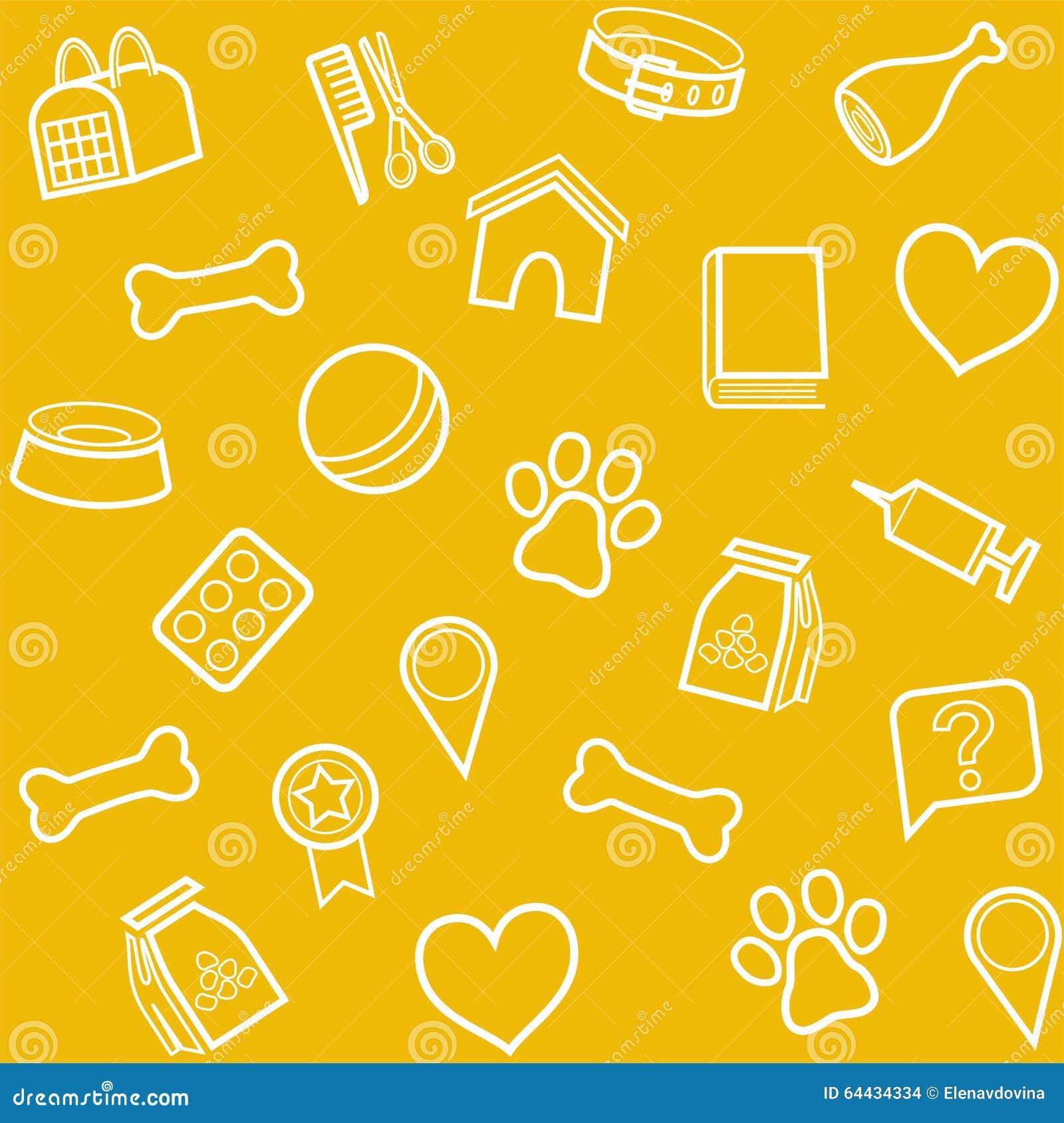 黄色片和动物干_动物的,背景,无缝,黄色物品