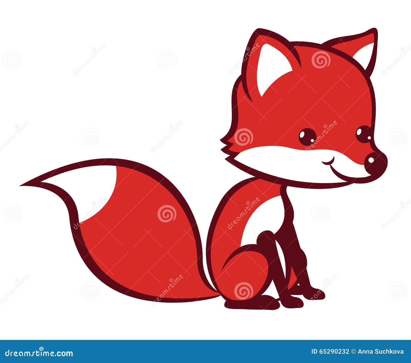 动画片狐狸-设计的传染媒介图画.