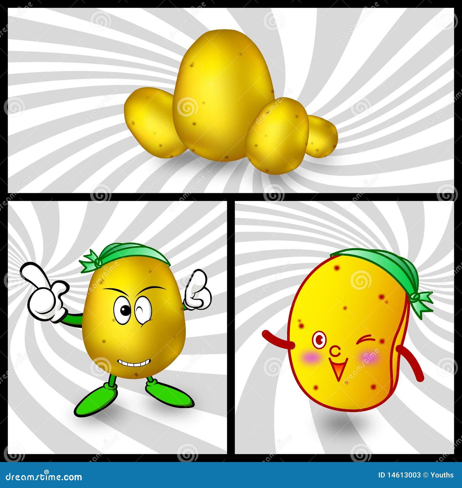 动画片土豆向量 库存照片 - 图片: 14613003图片