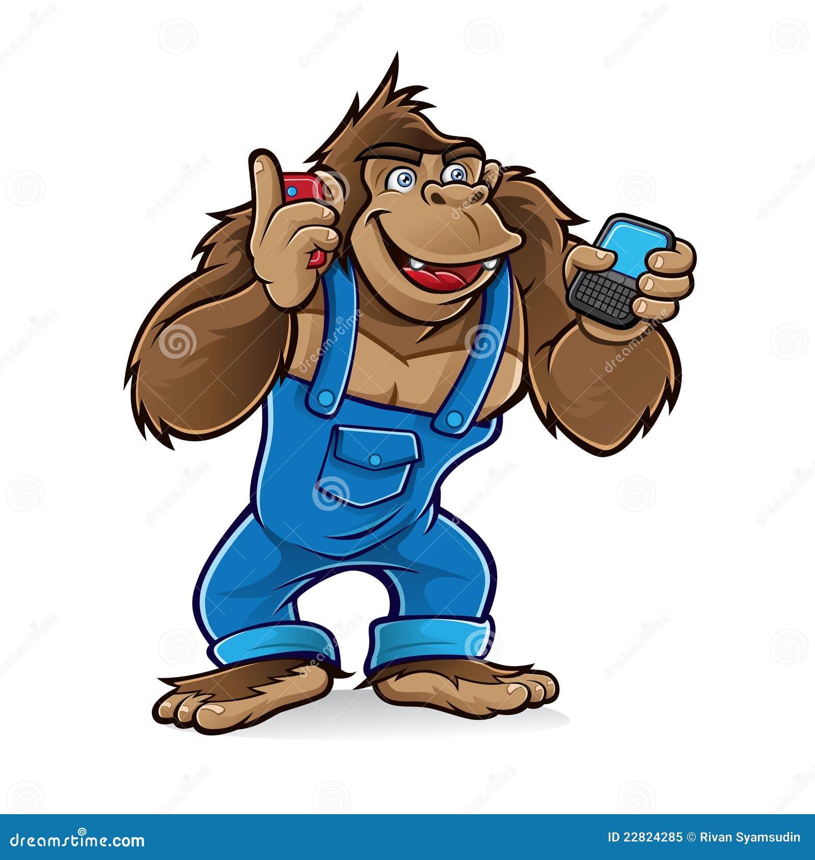 动画片大猩猩移动电话
