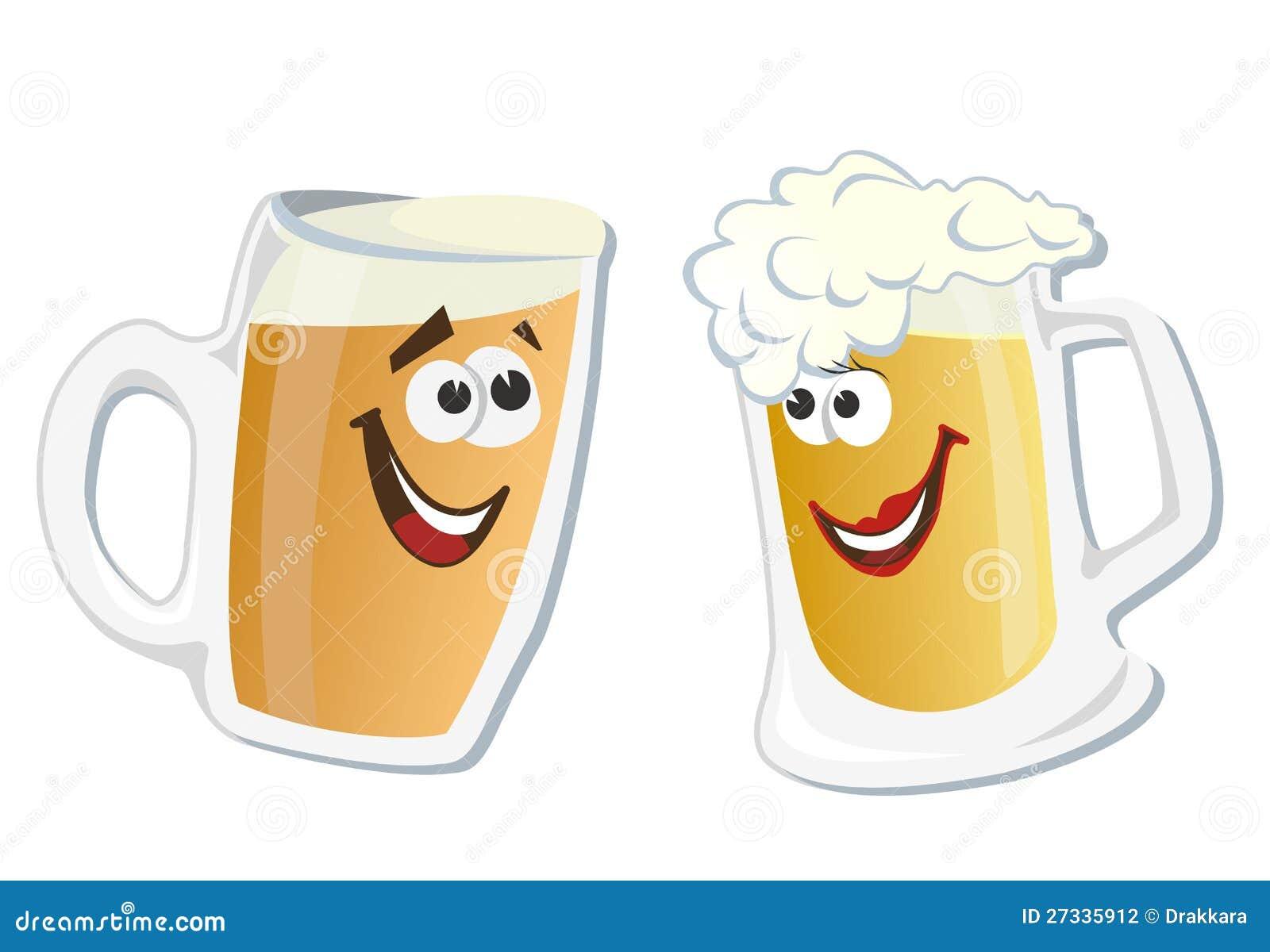 动画片微笑的英雄杯啤酒