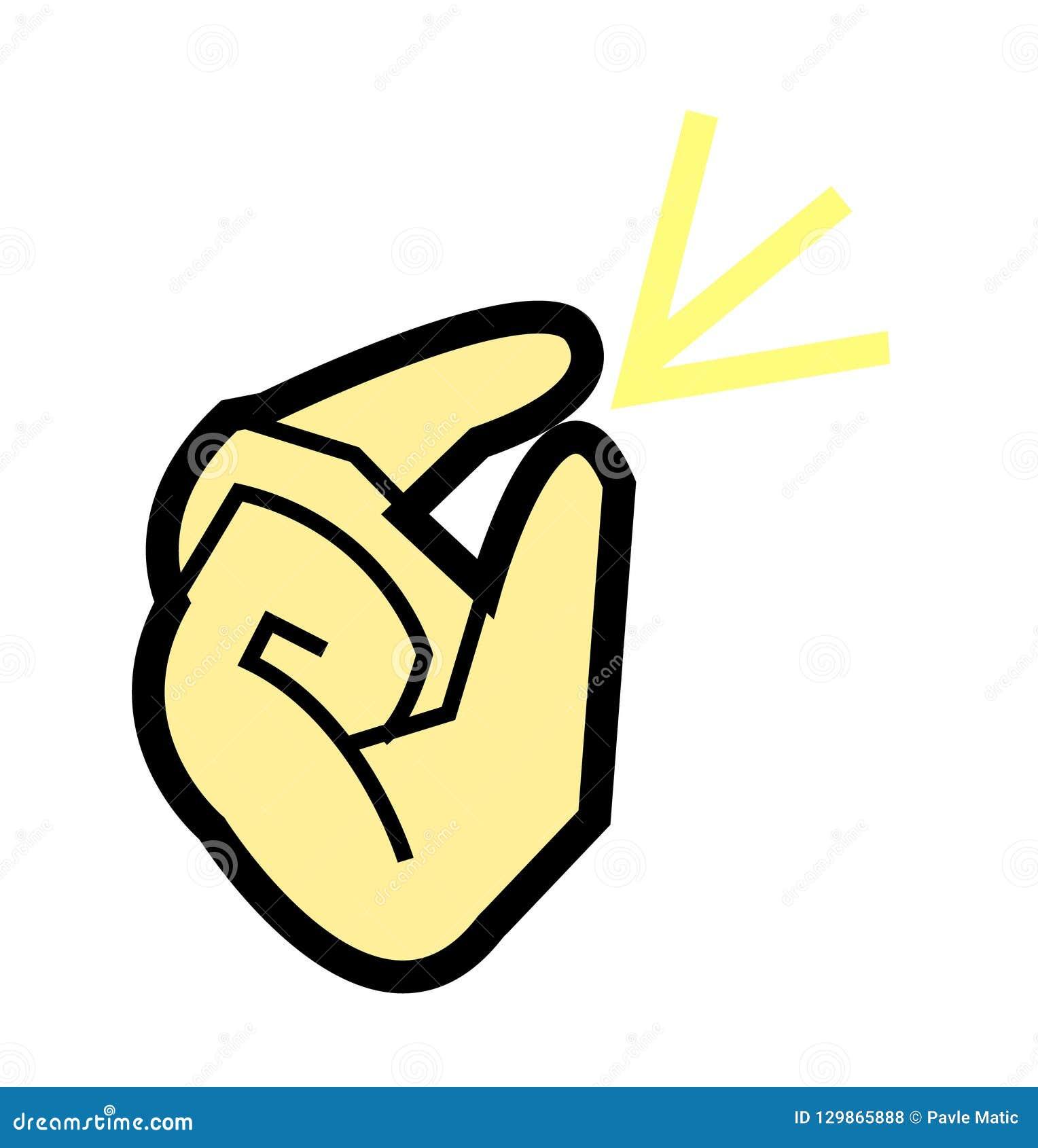 动画片手指攫取的传染媒介例证