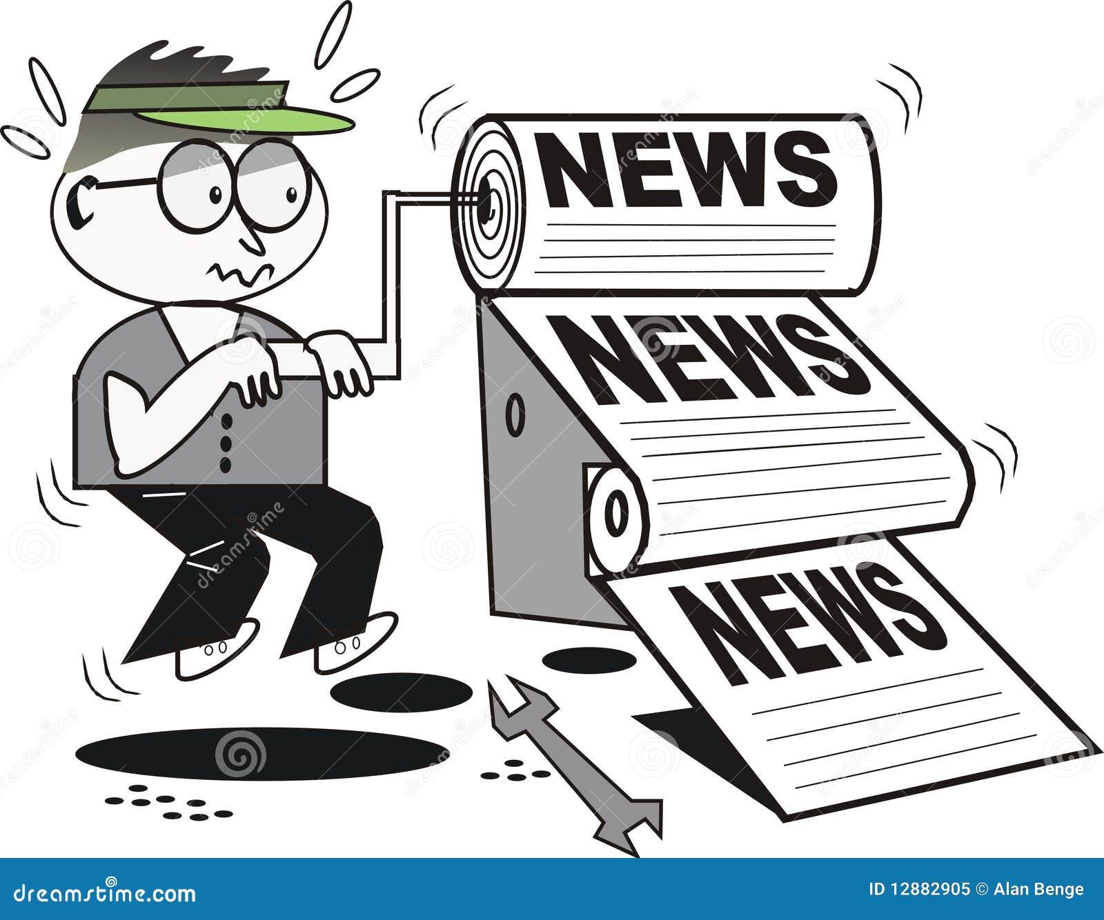 动画片新闻打印机