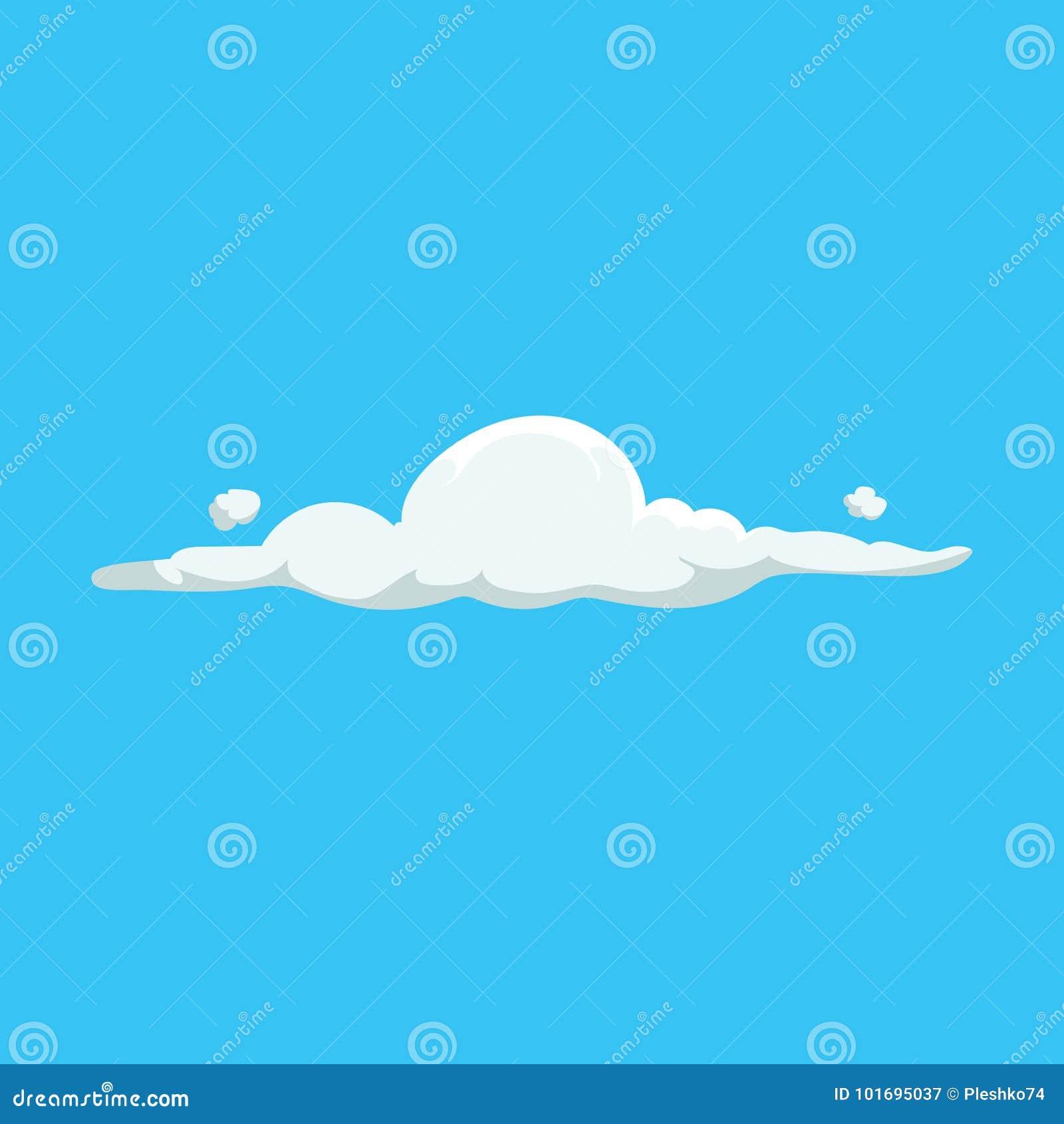 动画片逗人喜爱的云彩时髦设计象 天气或天空背景的传染媒介例证