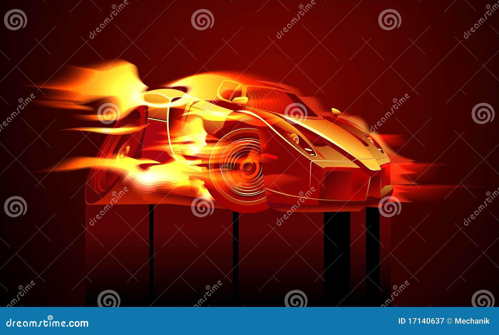 动画片sportcar向量