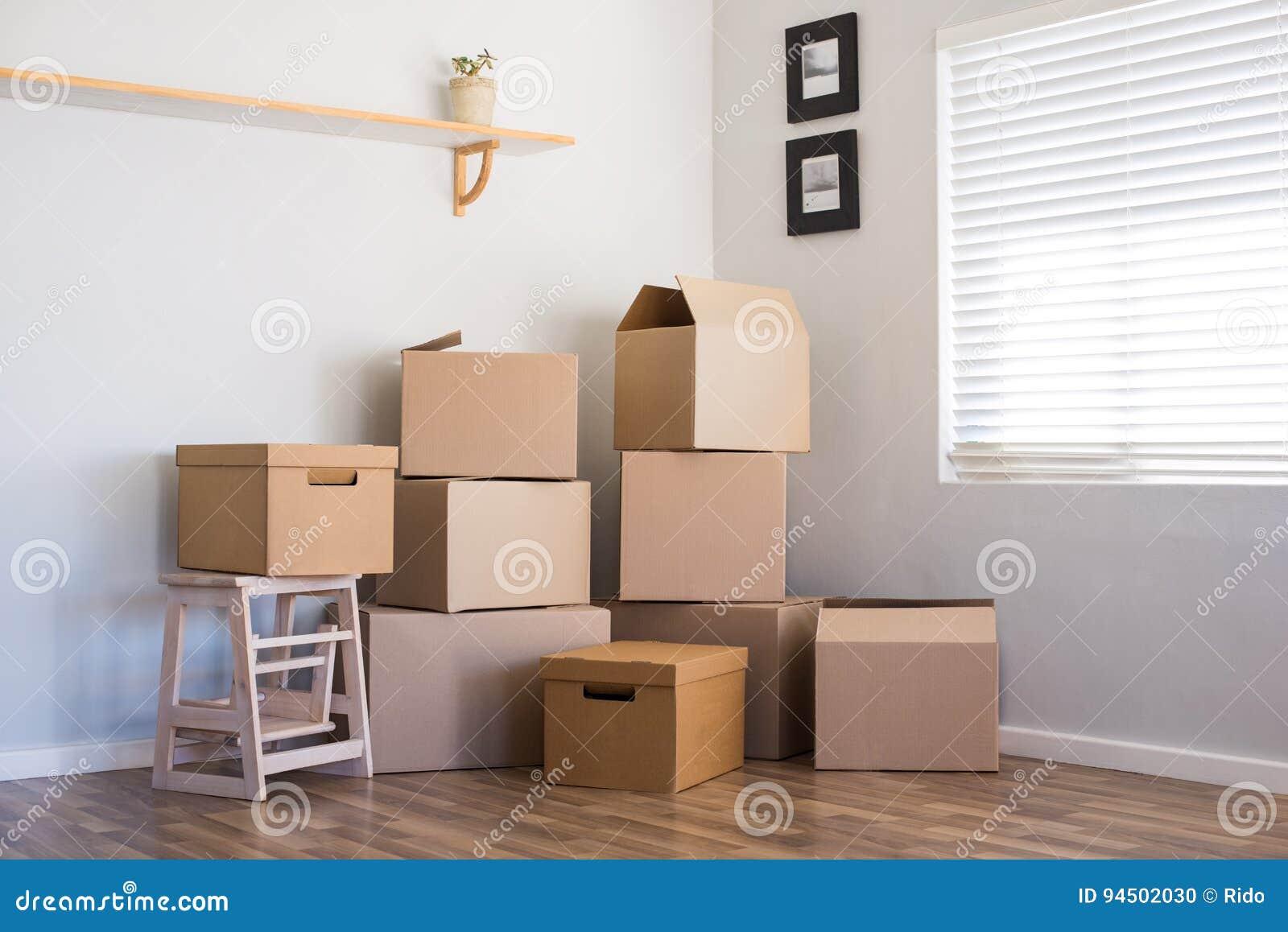 移动的房子和箱子