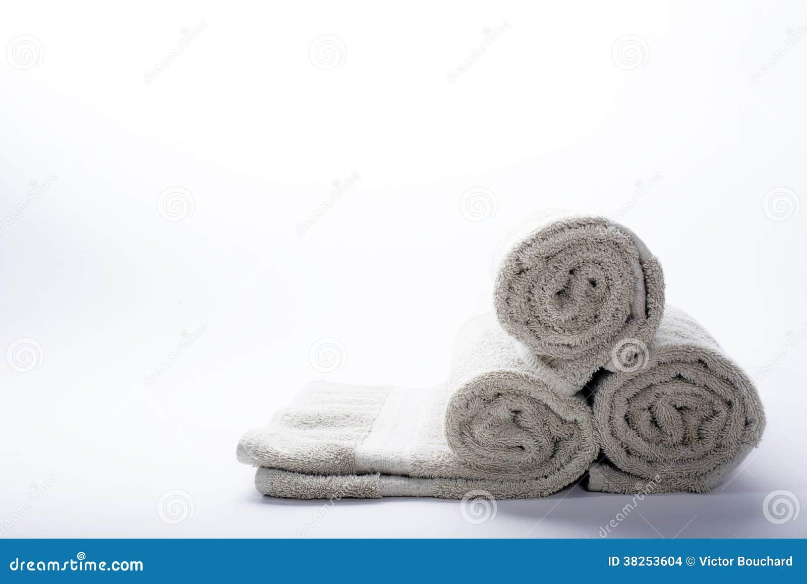 滚动的毛巾