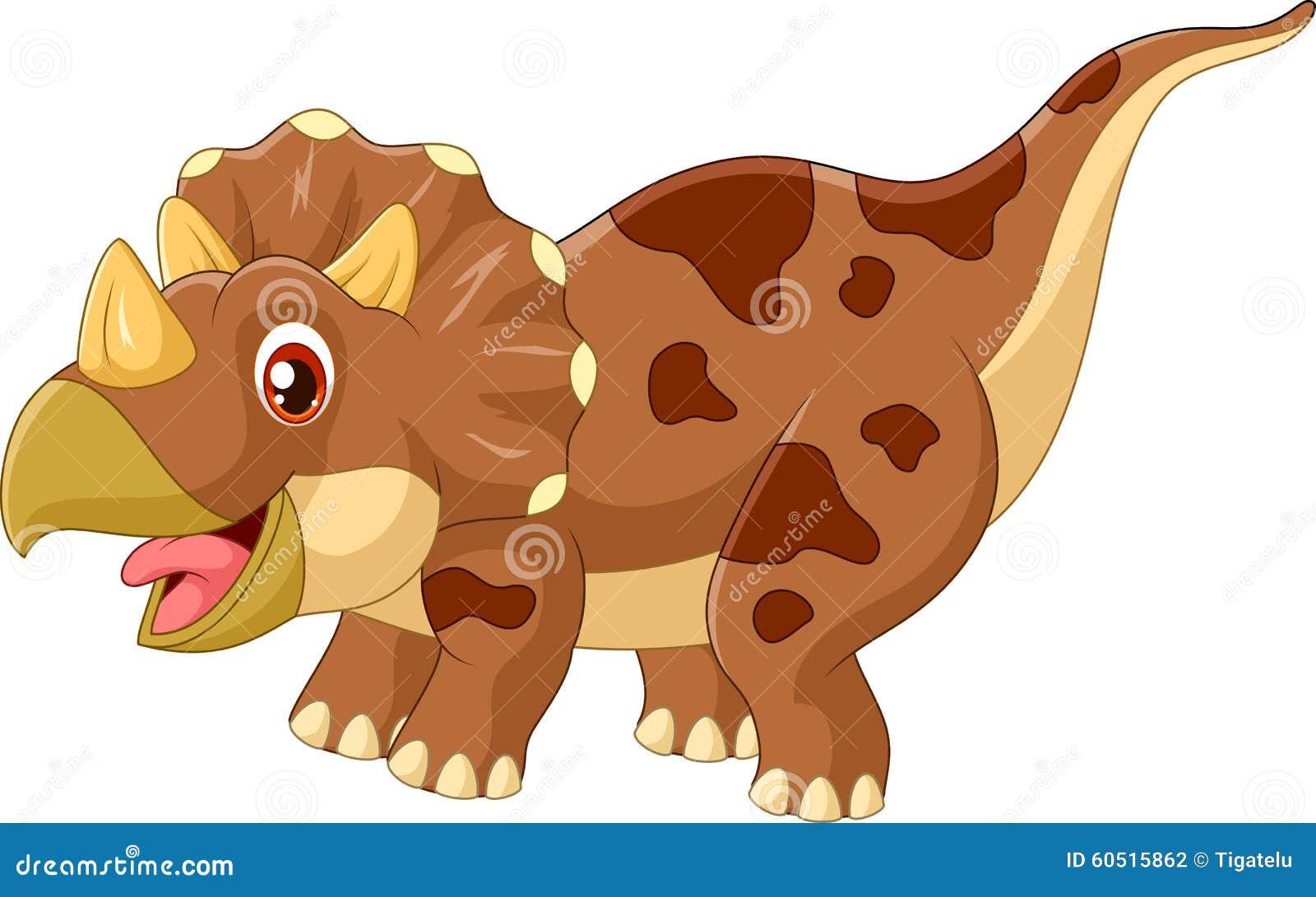 动画片三角恐龙三角龙的例证在白色背景的.图片