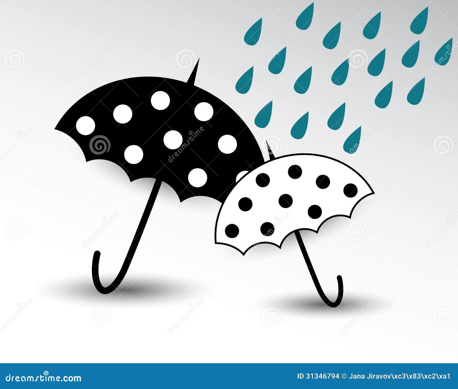 有雨例证的动画片伞.图片