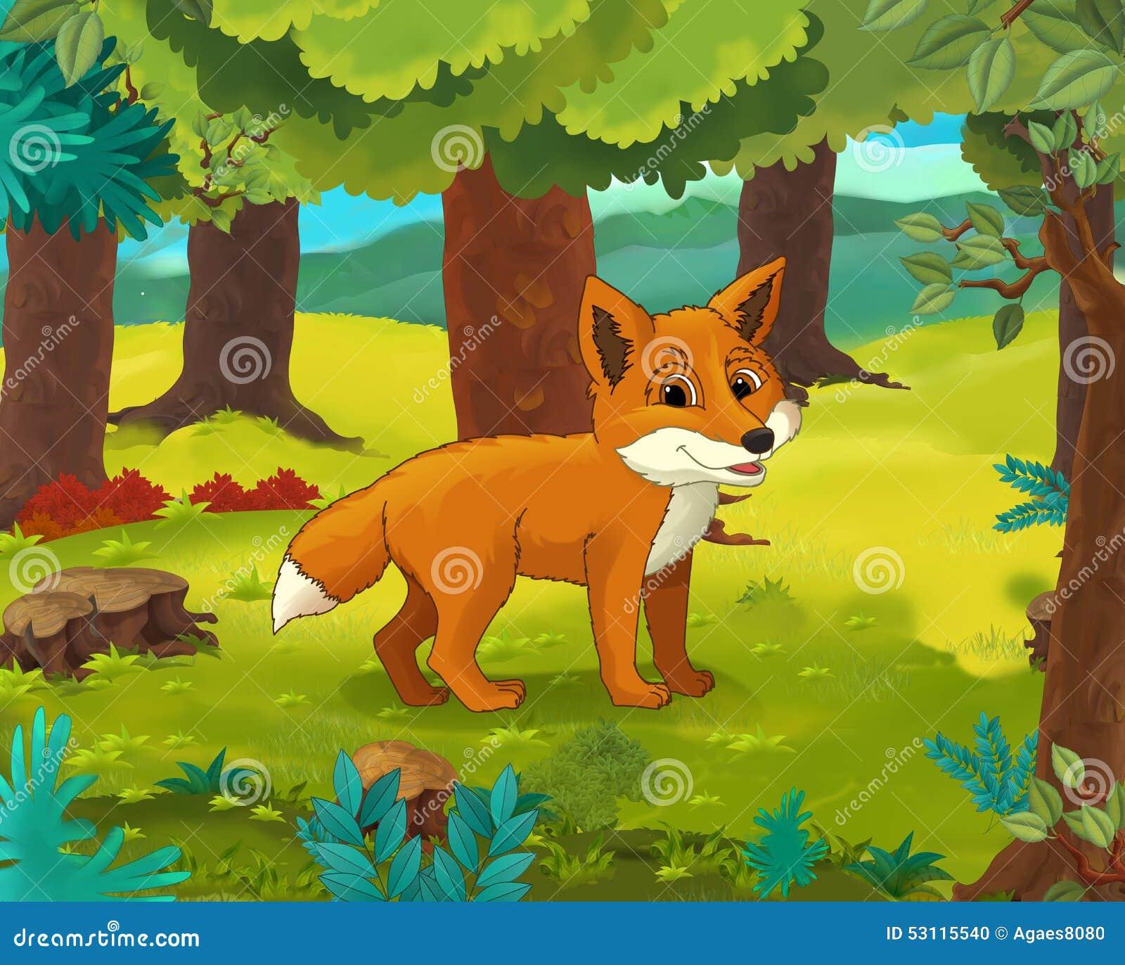 狐狸色中国片_动画片动物场面-讽刺画-狐狸