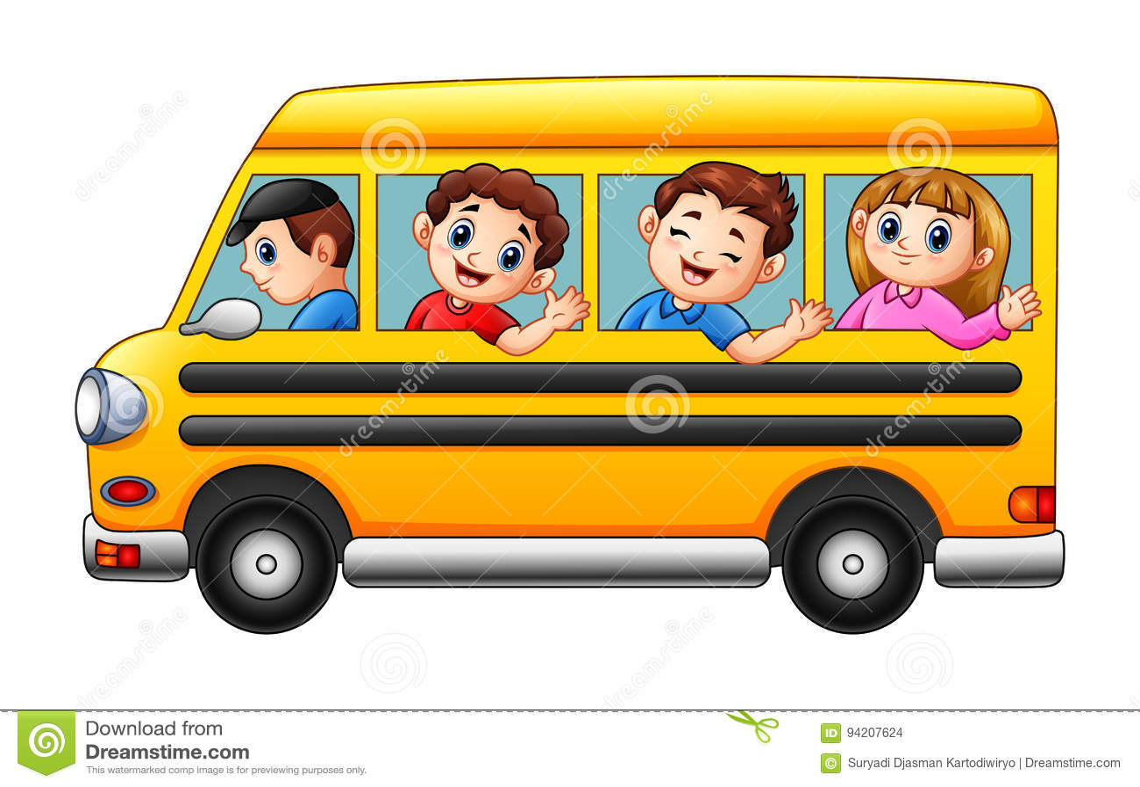 动画片哄骗上学乘校车