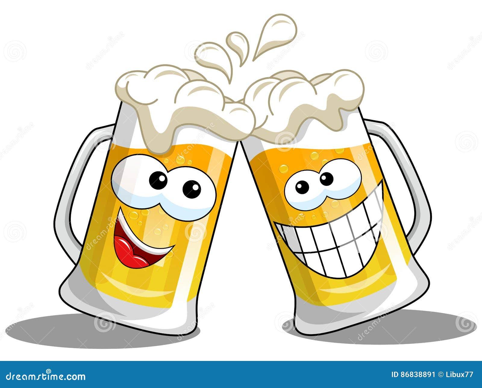 动画片啤酒杯欢呼