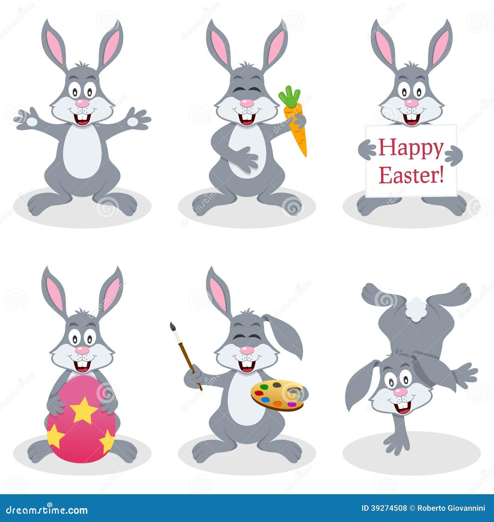 动画片复活节兔子兔子集合