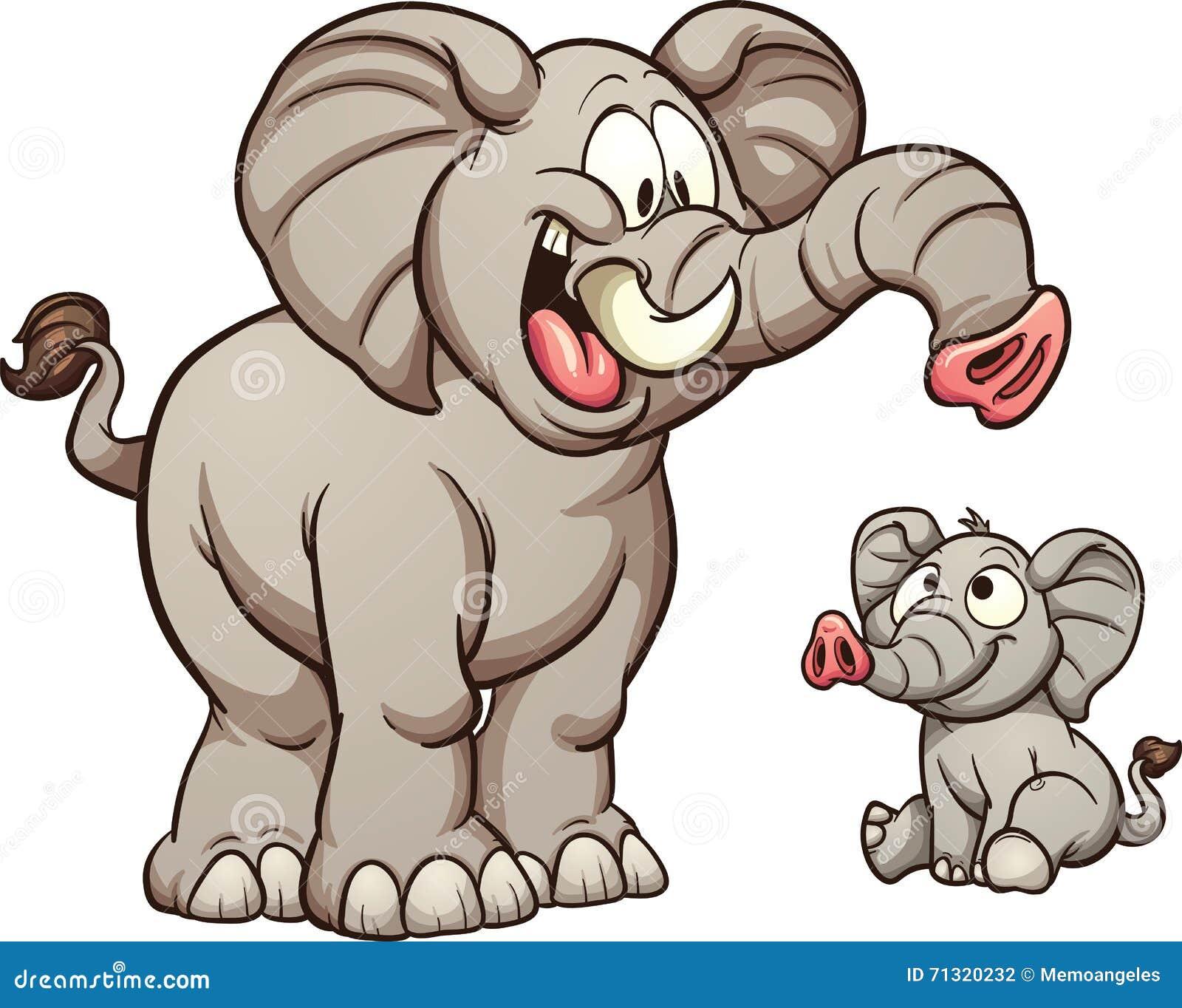 动画片大象图片