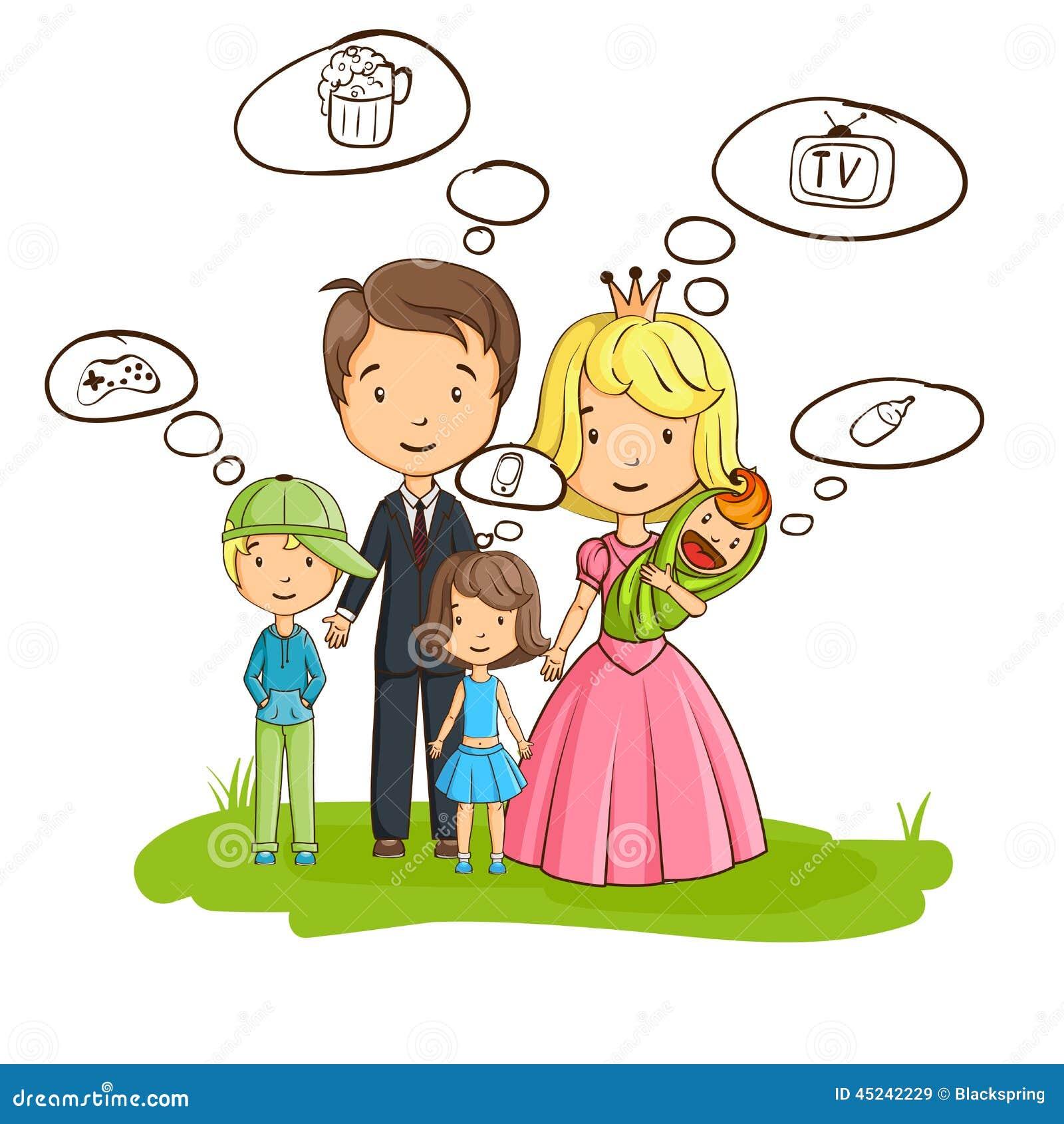 动画片家庭,大家考虑他们自己的兴趣