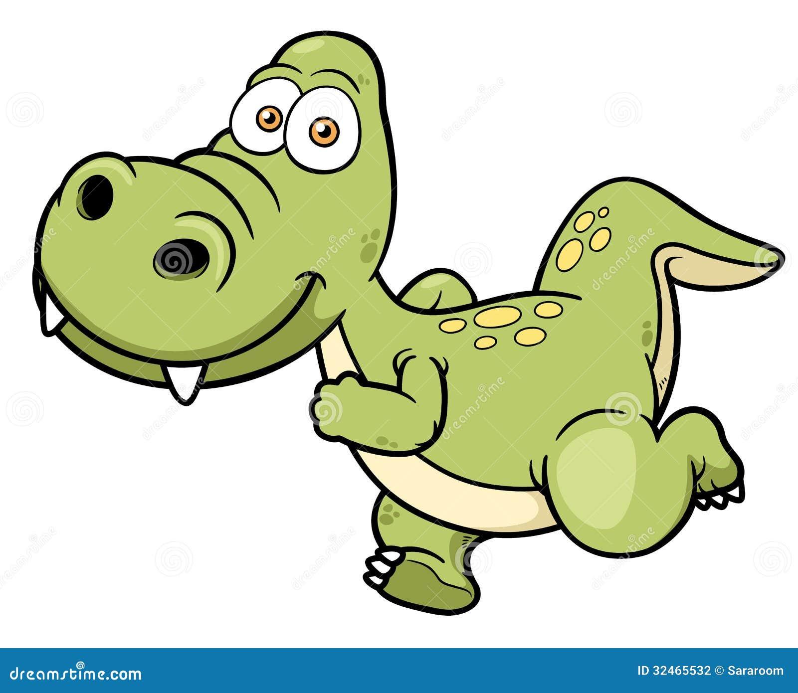 动画片恐龙赛跑的传染媒介例证.图片