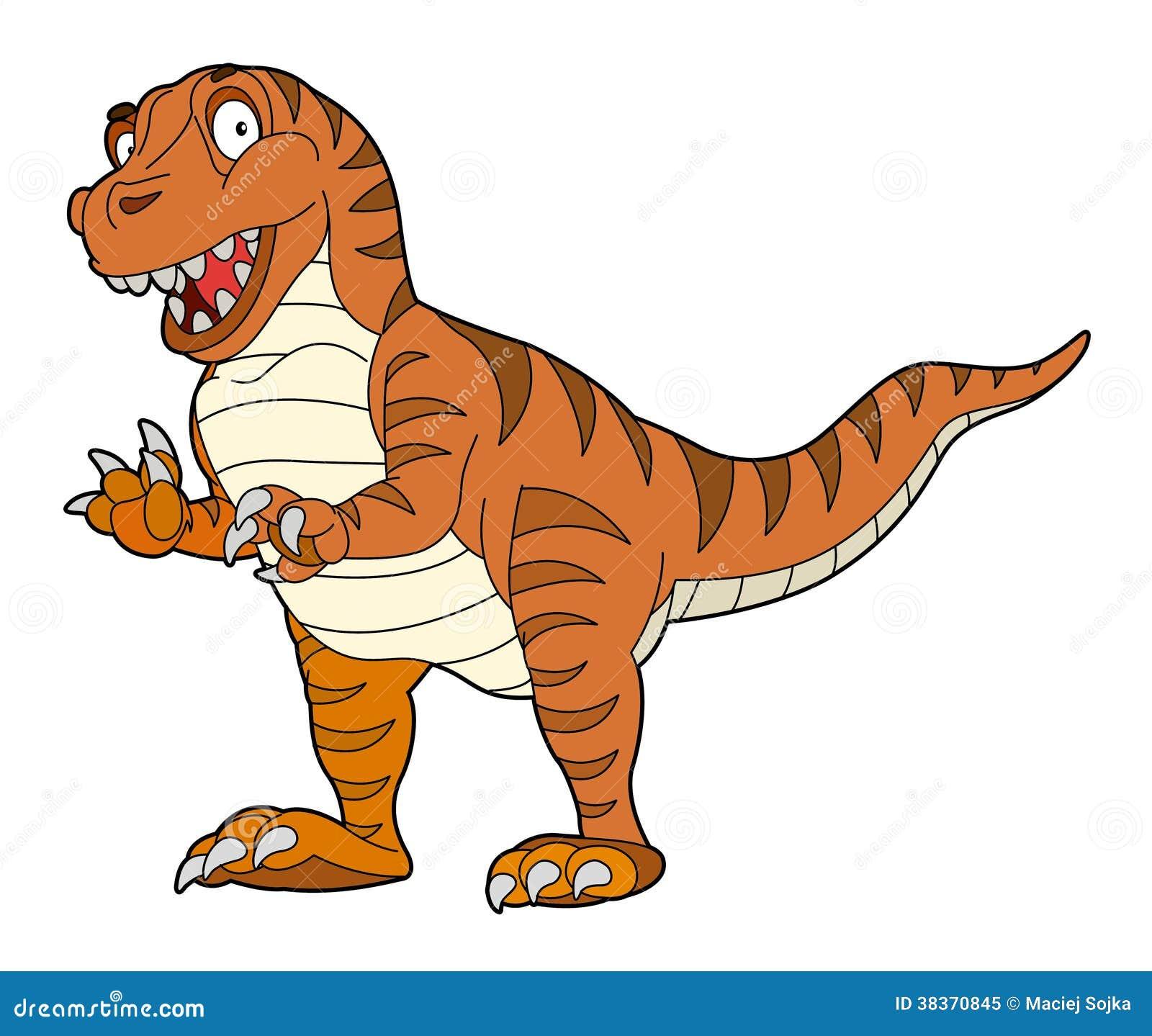 动画片恐龙-孩子的例证图片