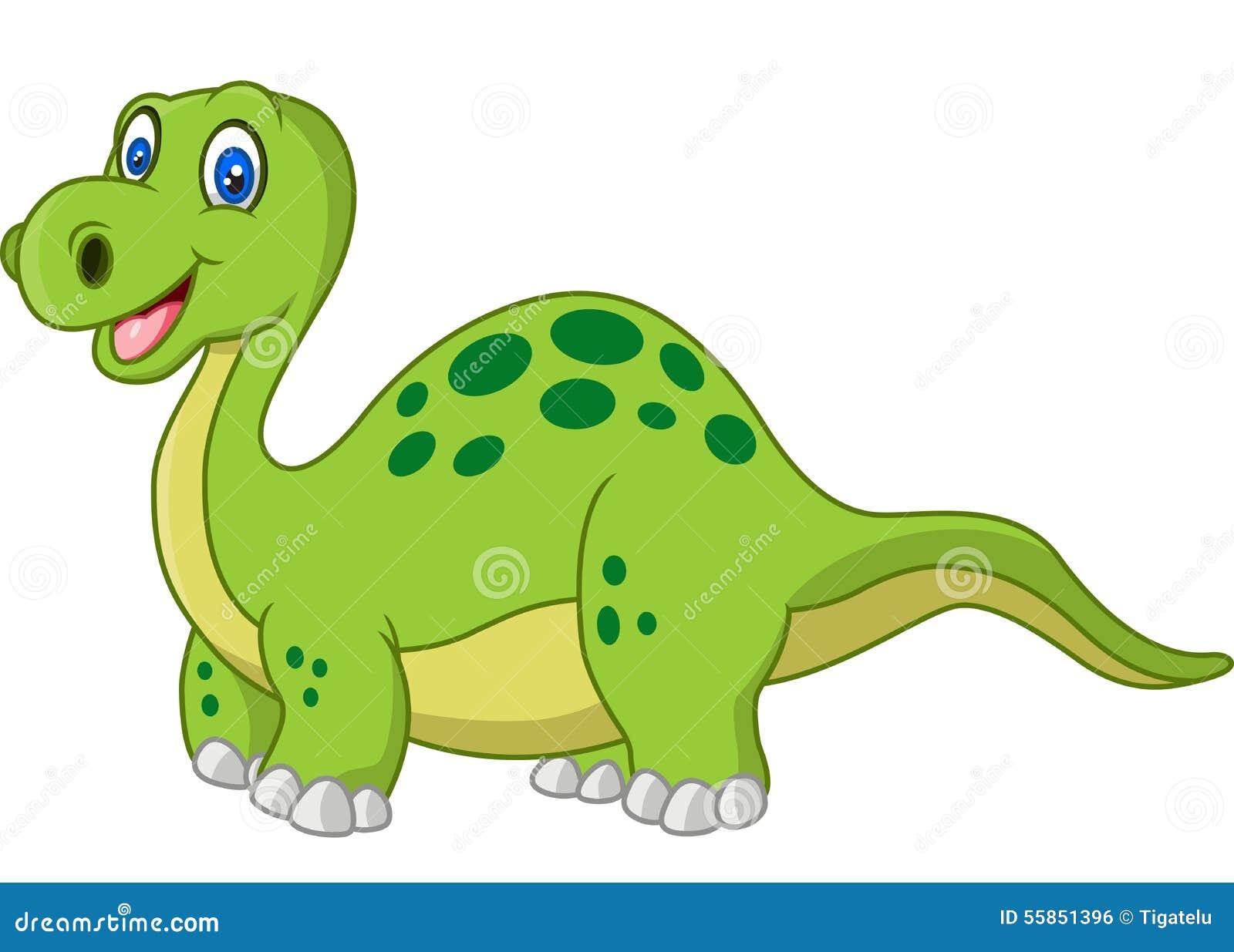动画片愉快的恐龙的例证.图片