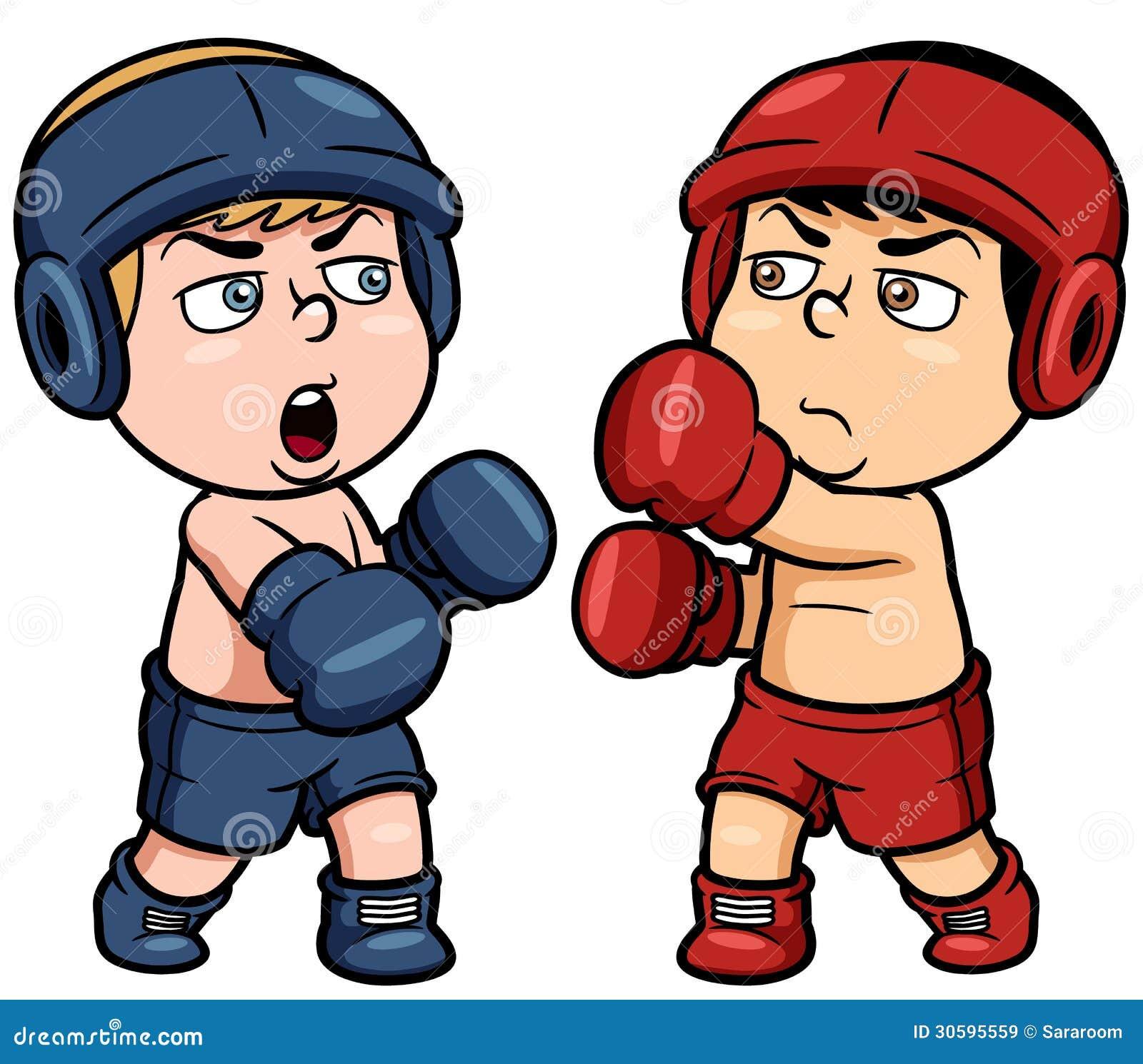 动画片拳击图片