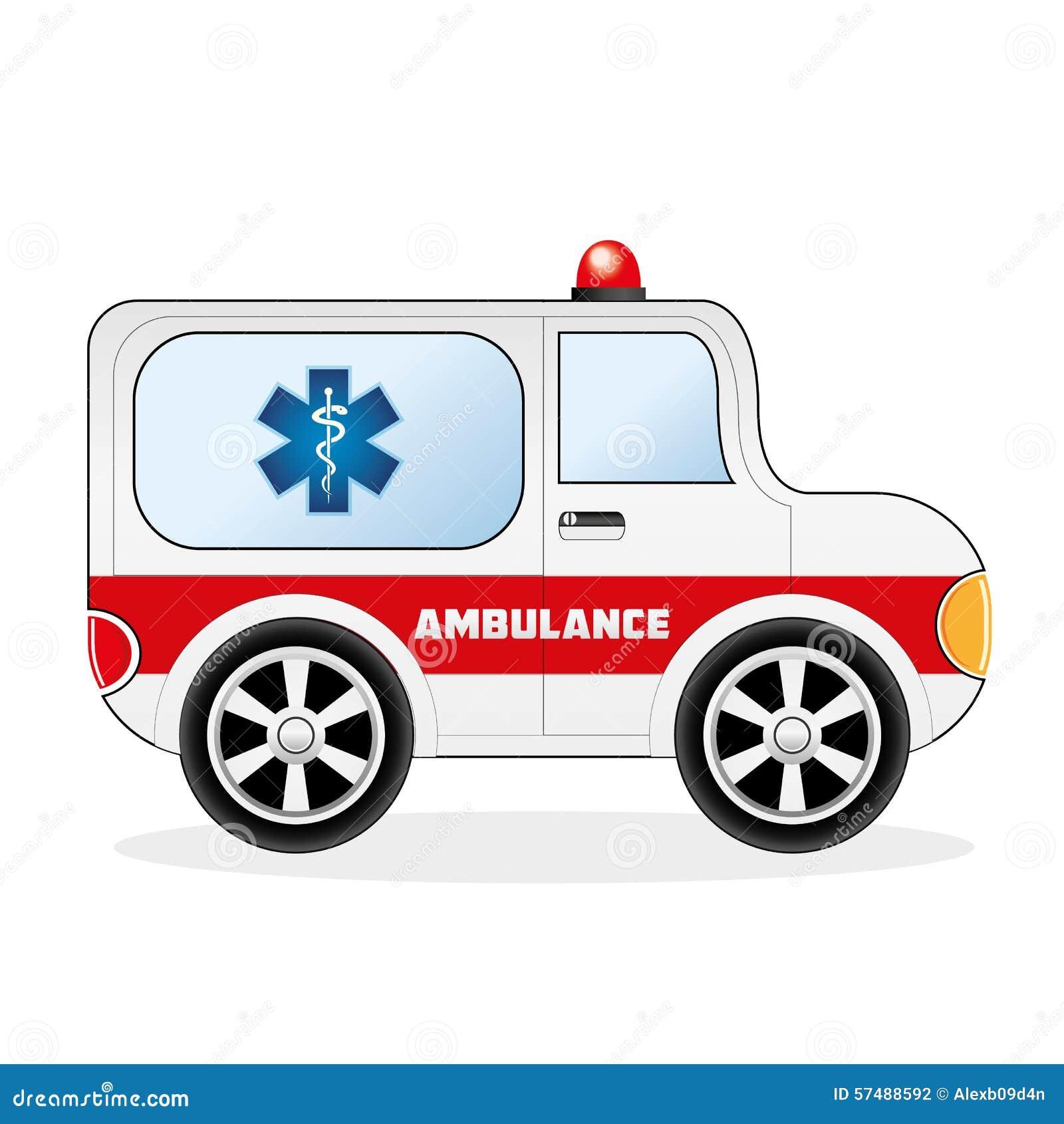 救护车可用的背景汽车动画片eps文件查出白色 可用eps的文件.图片