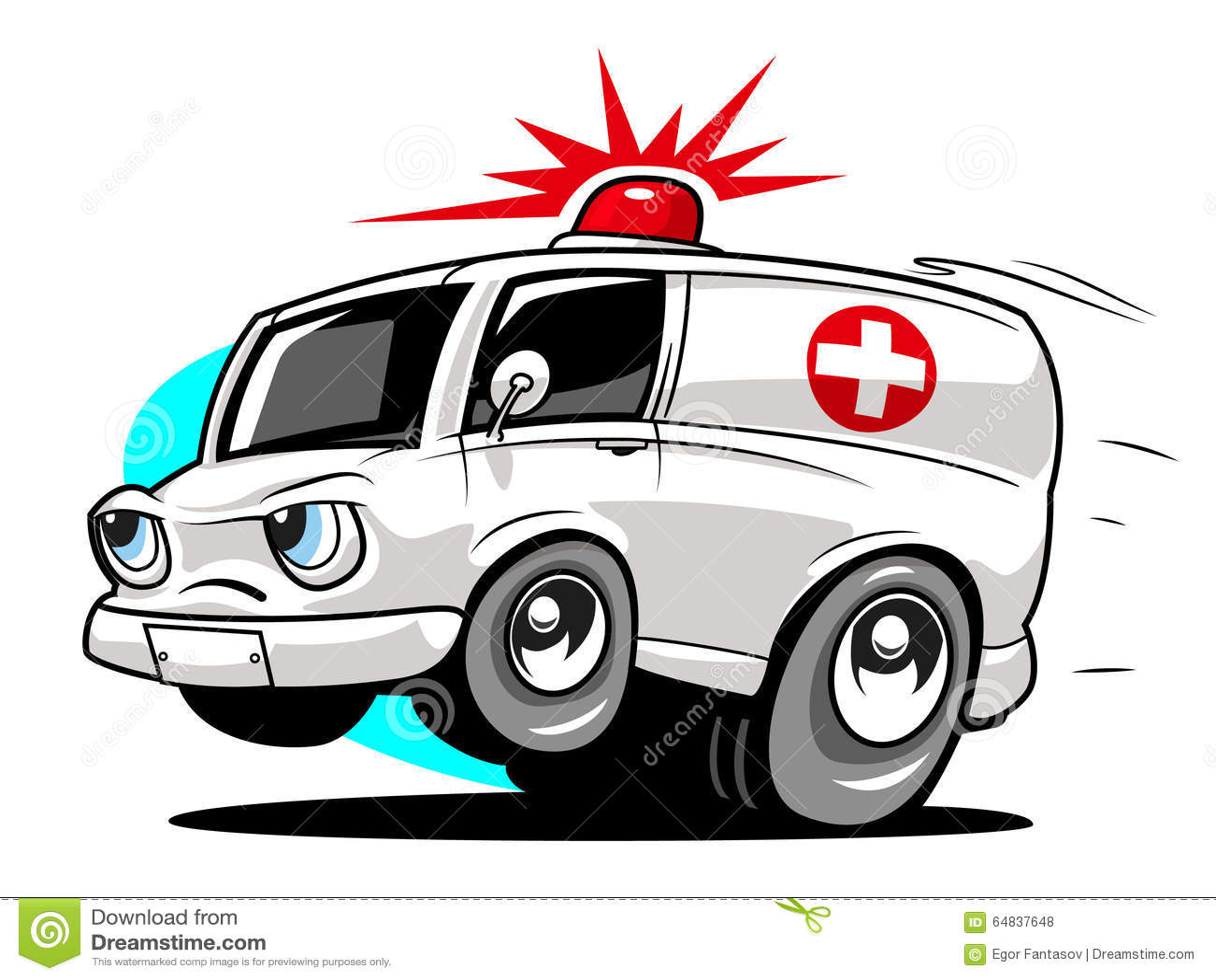 快速的动画片救护车 也corel凹道例证向量.图片