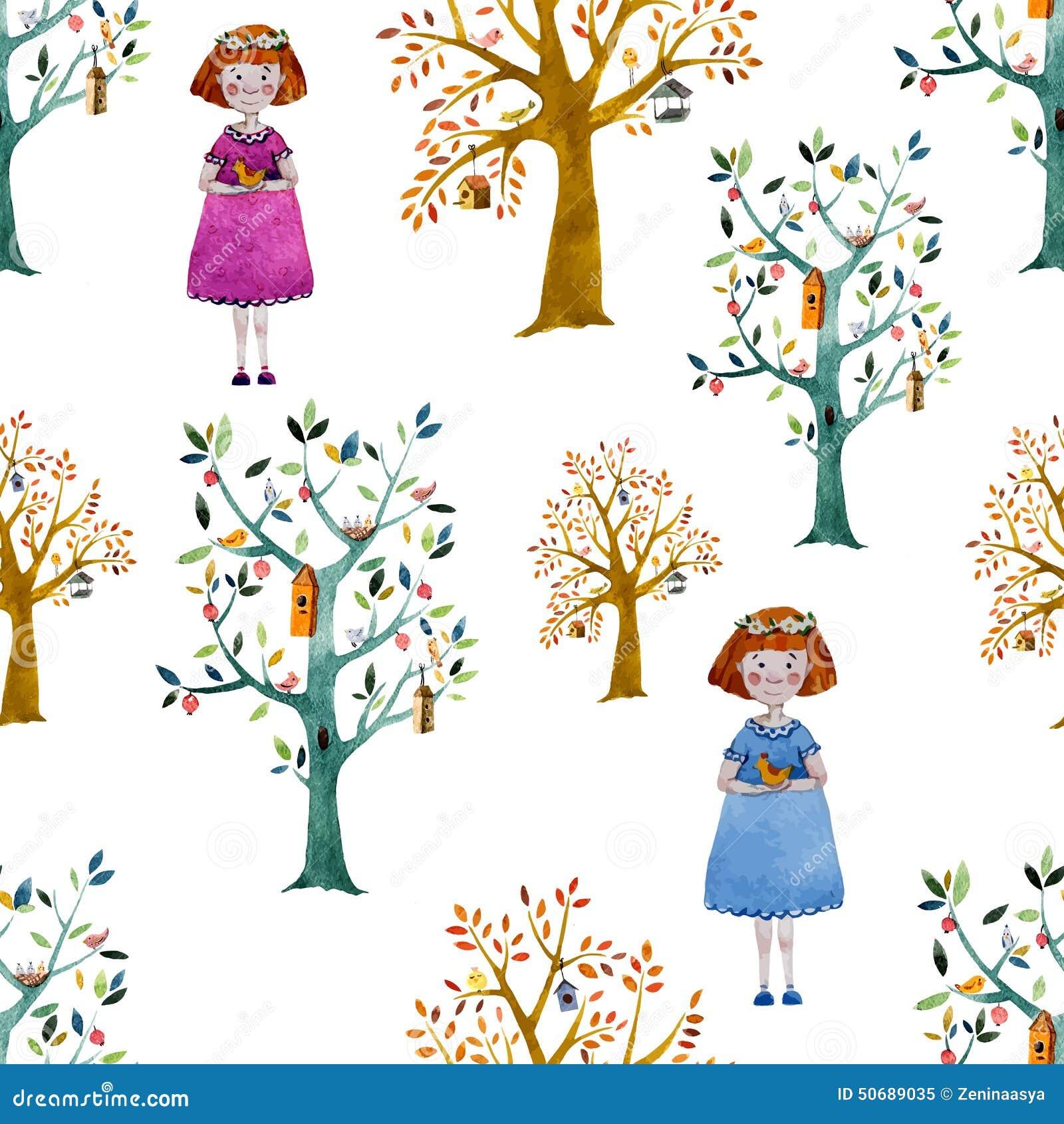 Download 动画片森林 向量例证. 插画 包括有 艺术, 要素, 图象, 春天, 双翼飞机, 空间, 装饰, 森林, 花卉 - 50689035