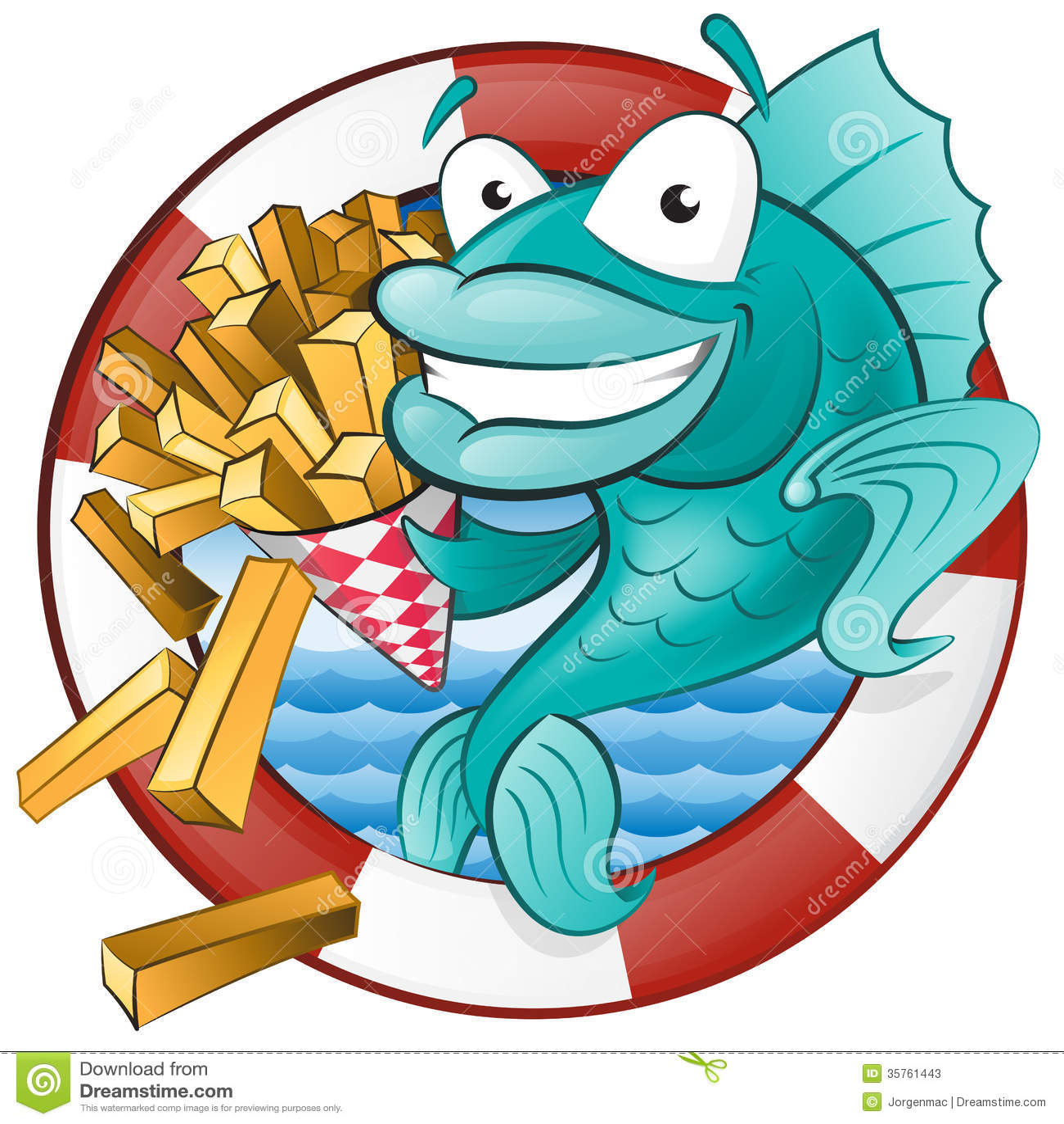 动画片炸鱼加炸土豆片。
