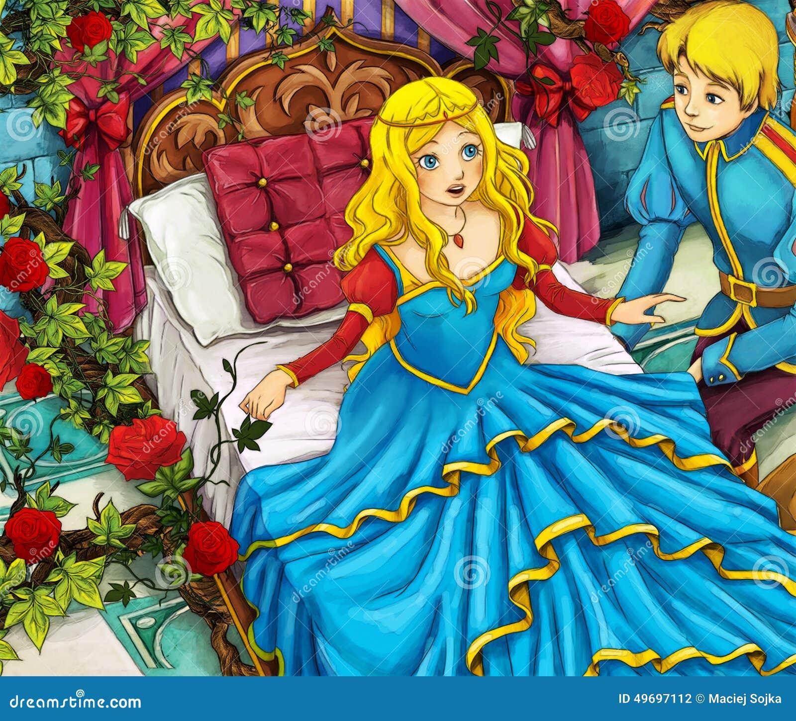 动画片童话场面-王子和公主图片