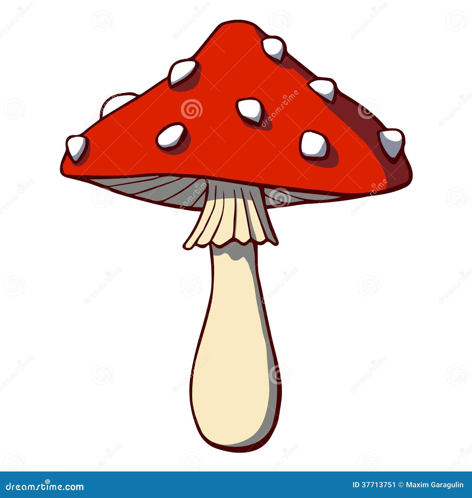 动画片蘑菇伞形毒蕈.传染媒介例证.这是eps10格式文件.图片