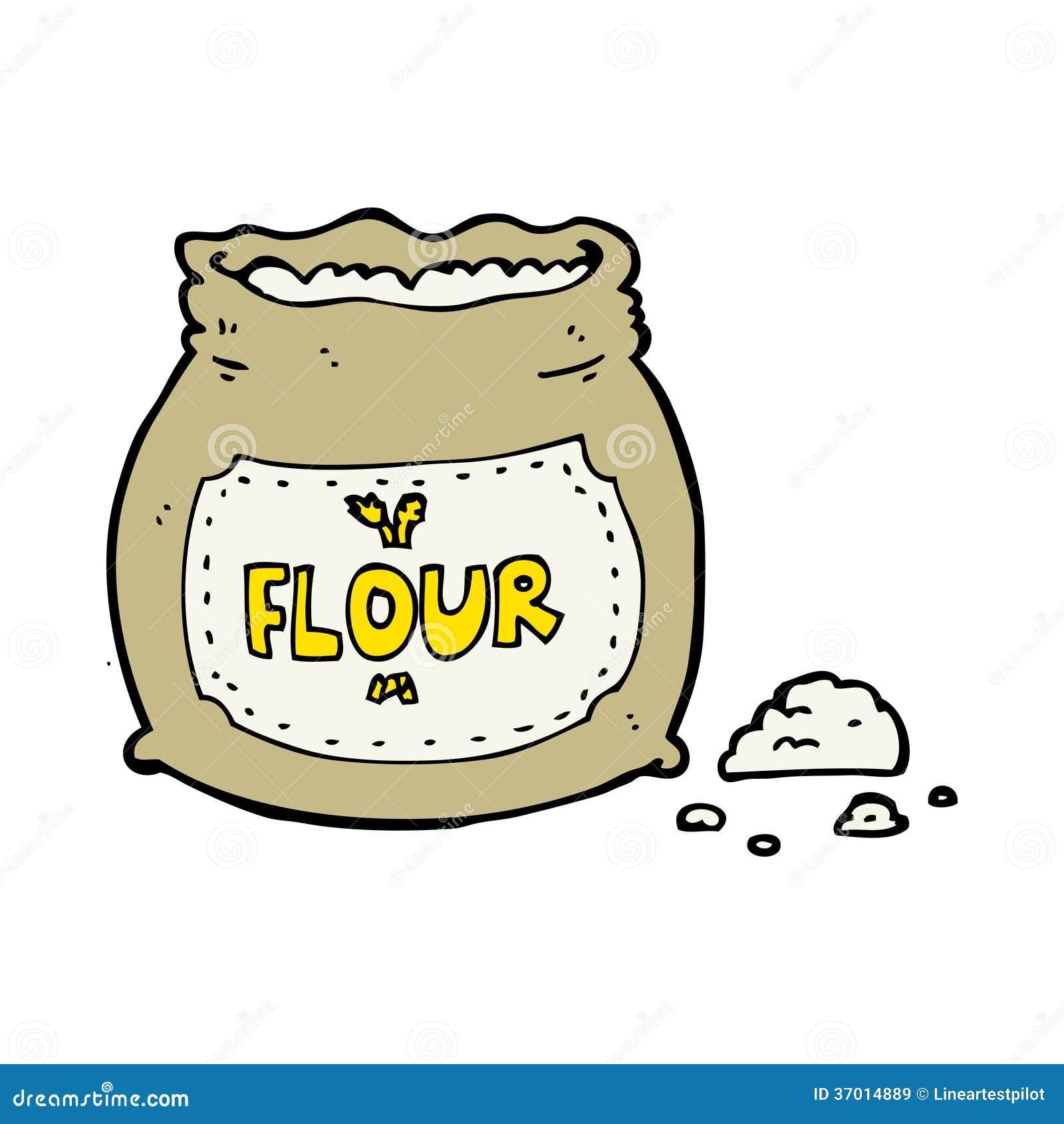 动画片袋子面粉图片