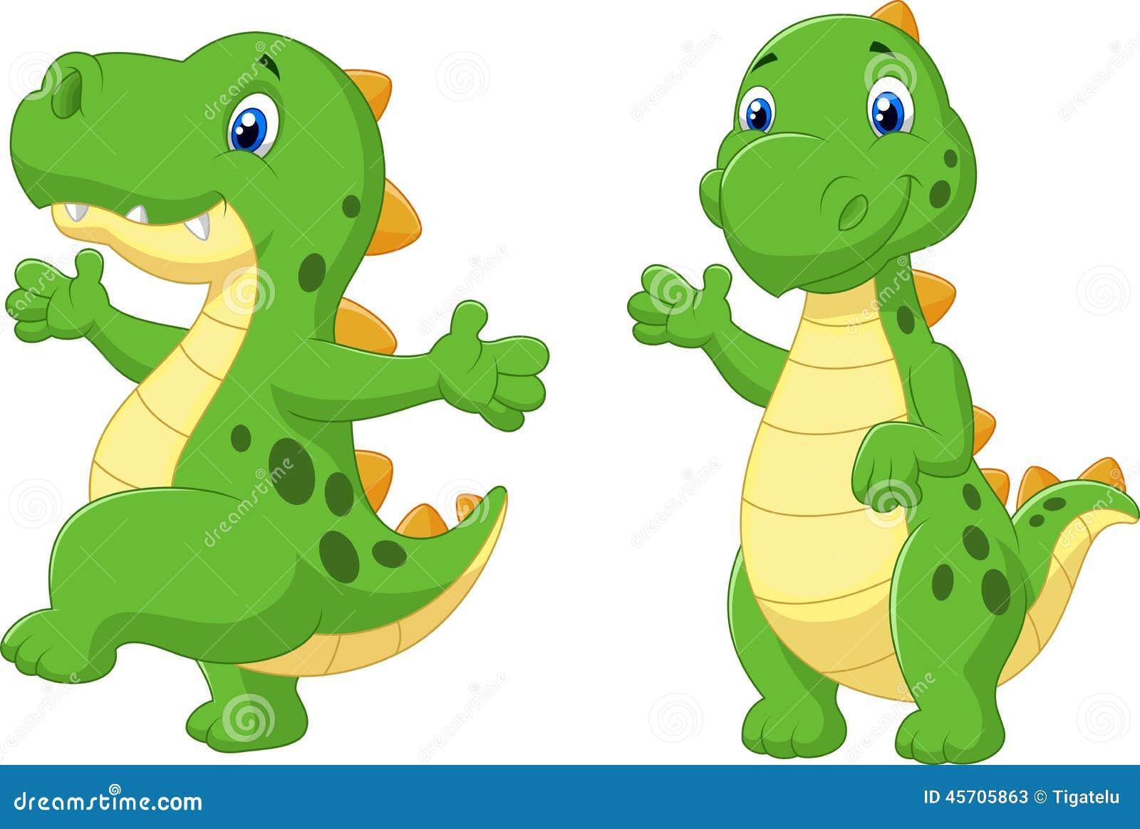向量例证: 动画片逗人喜爱的恐龙图片