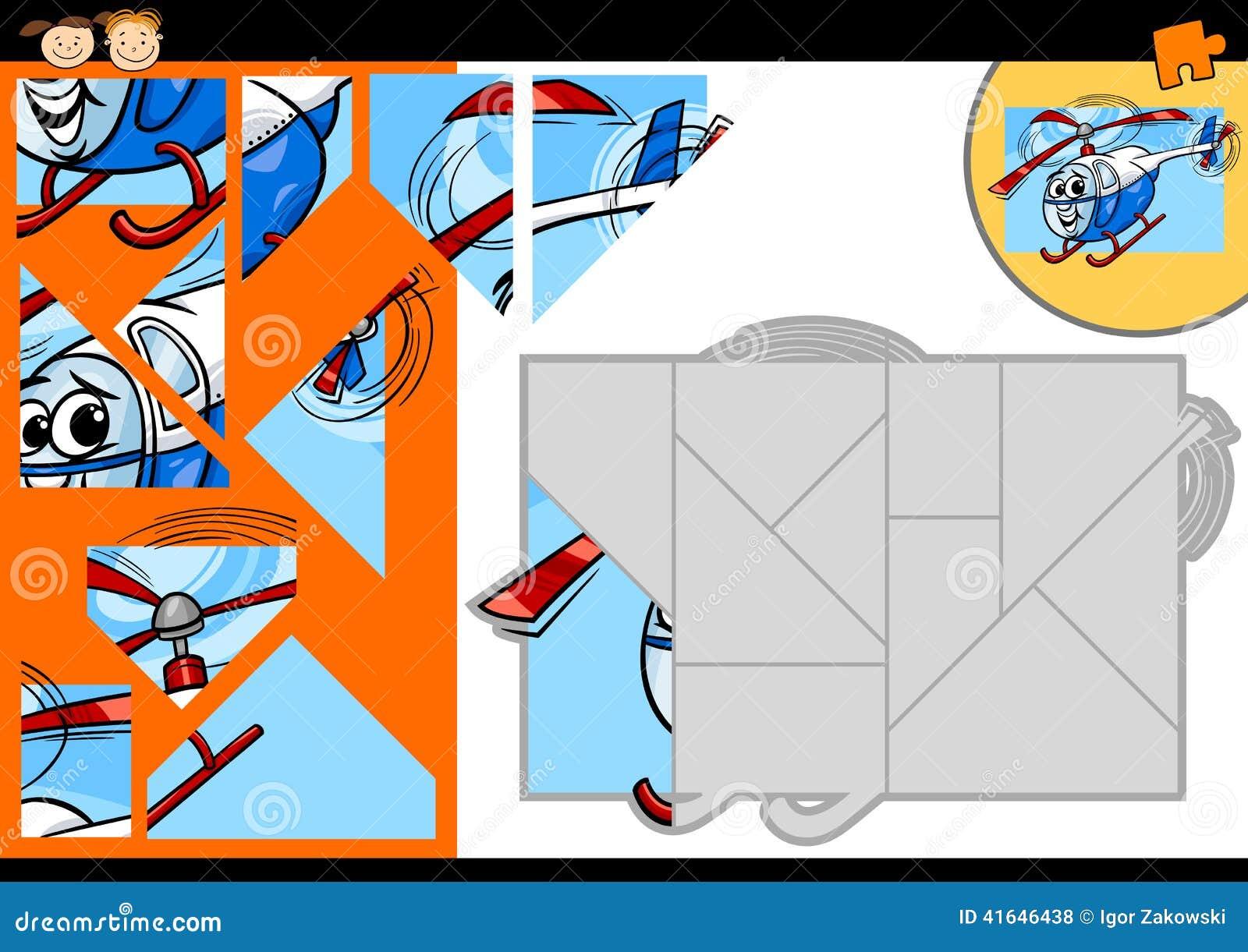 动画片直升机七巧板比赛图片