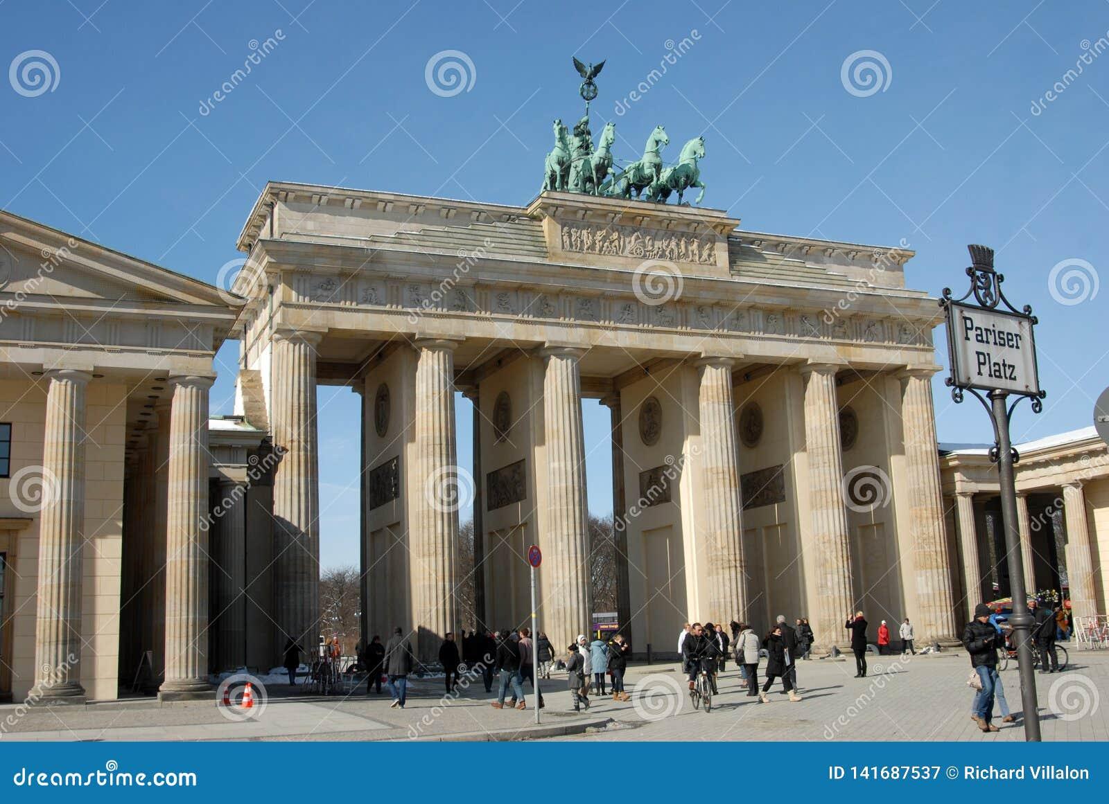 勃兰登堡门在柏林,德国