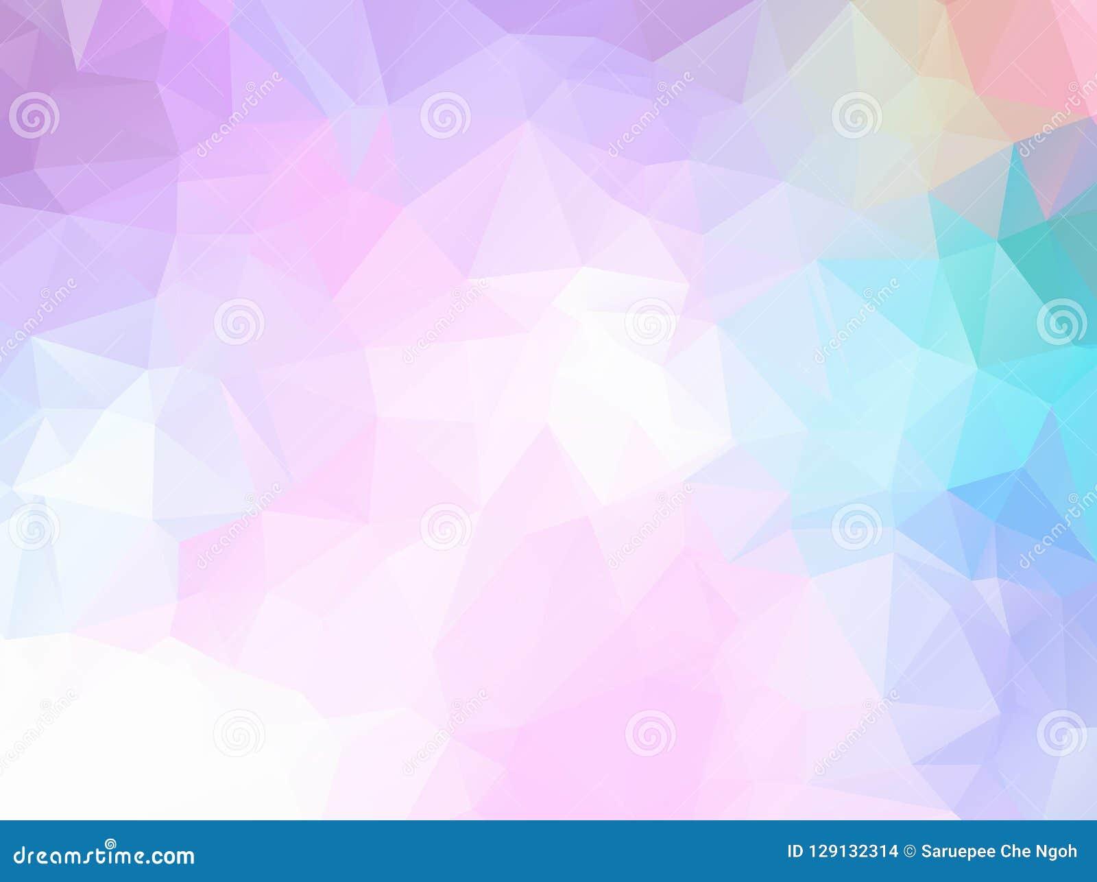 包括色的三角的抽象柔光彩虹背景 抽象五颜六色的多角形马赛克背景,创造性的D