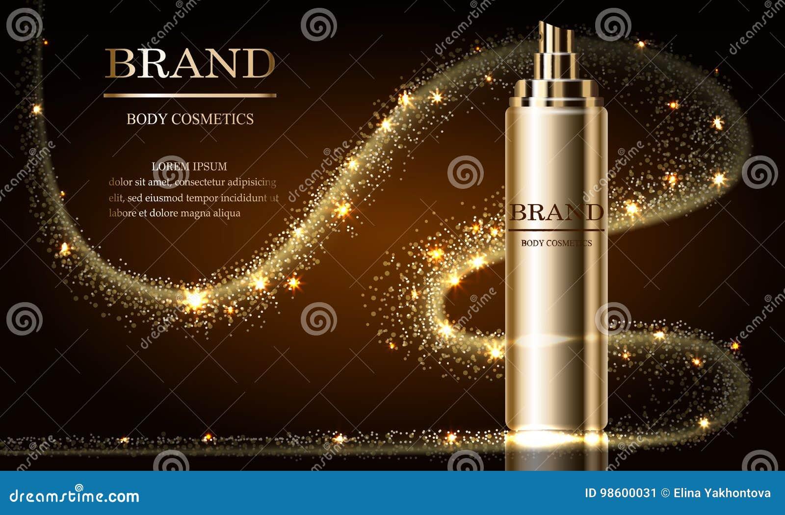 化妆用品秀丽系列,优质浪花奶油大模型广告护肤的 设计海报的,横幅模板 向量