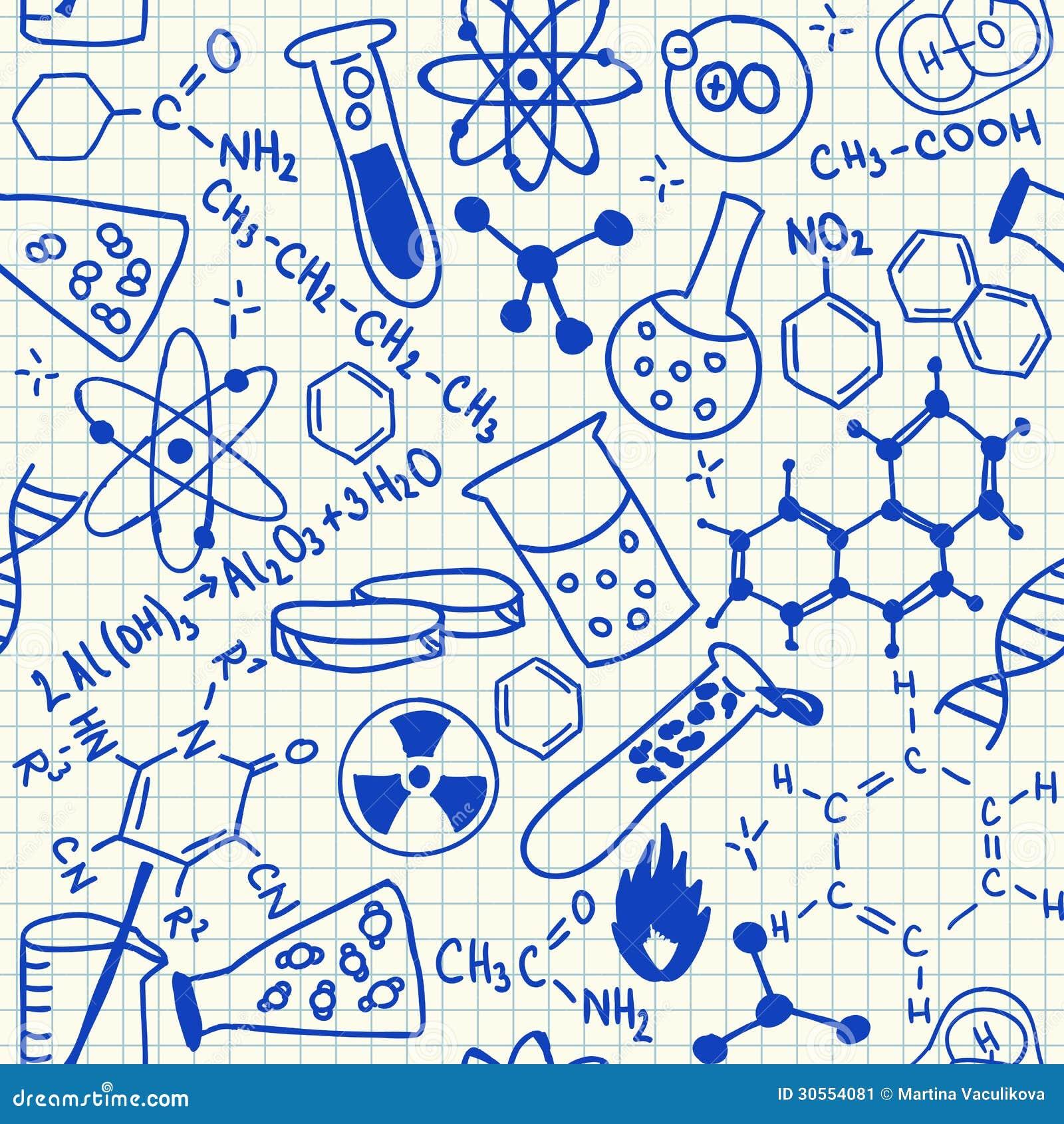 化学制品乱画无缝的样式