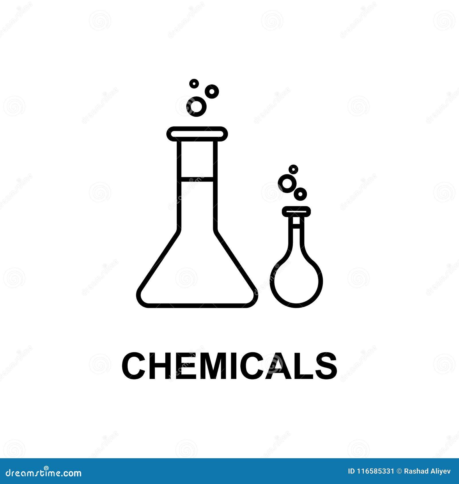 化学制品象 治疗的元素与名字的对于流动概念和网apps 稀薄的线化学制品象可以为网和m使用
