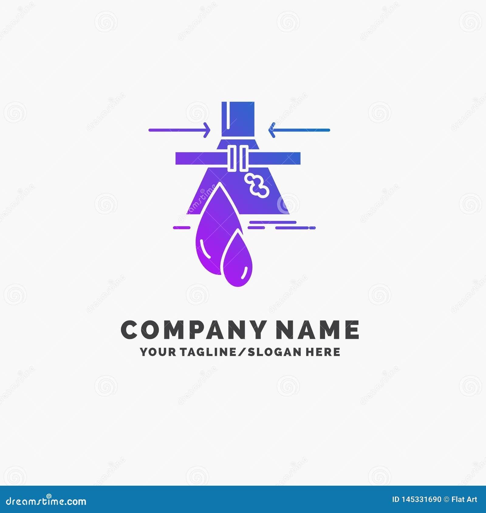 化学制品,泄漏,侦查,工厂,污染紫色企业商标模板 r